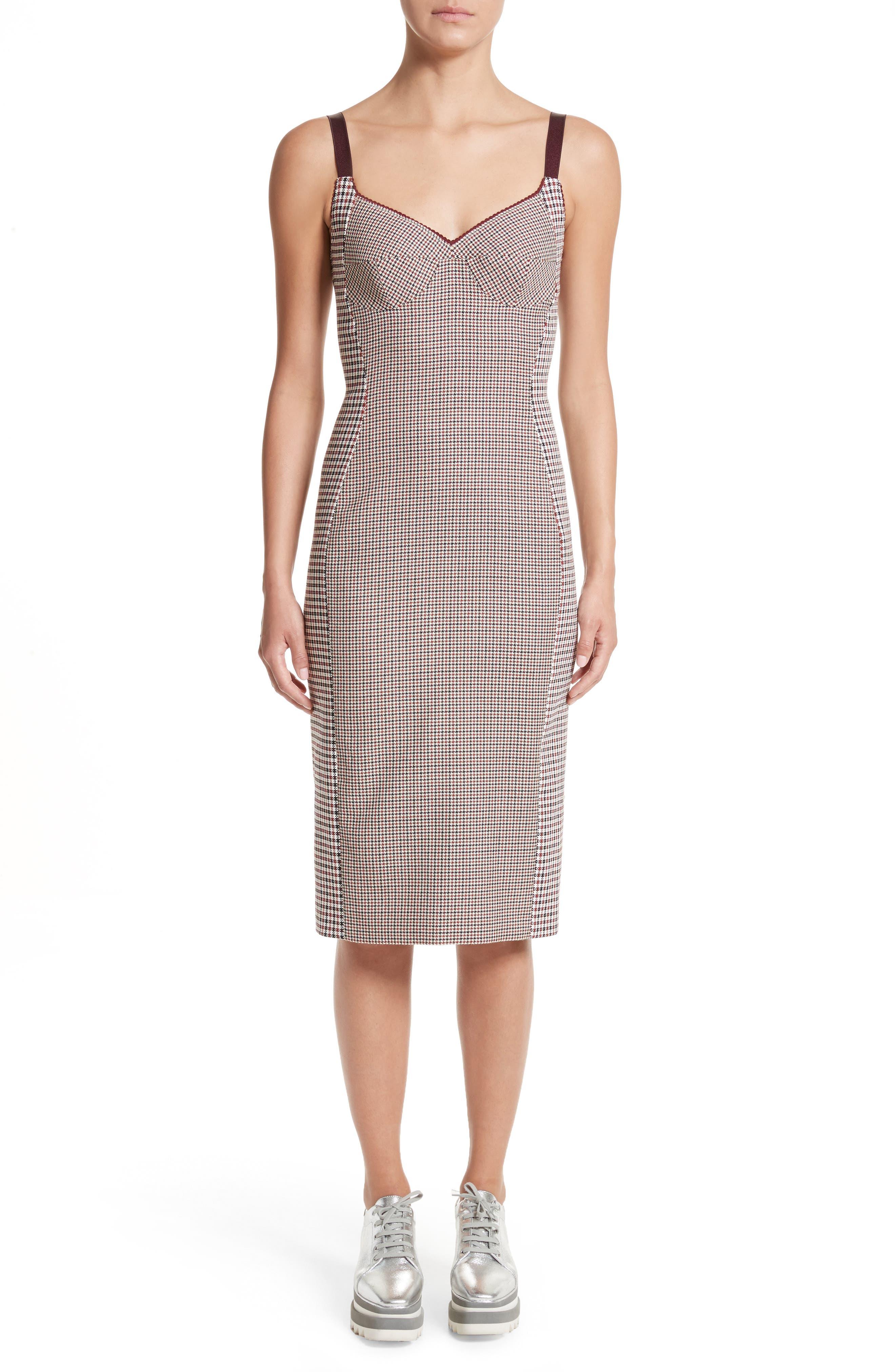 Stella McCartney Check Wool Bustier Dress