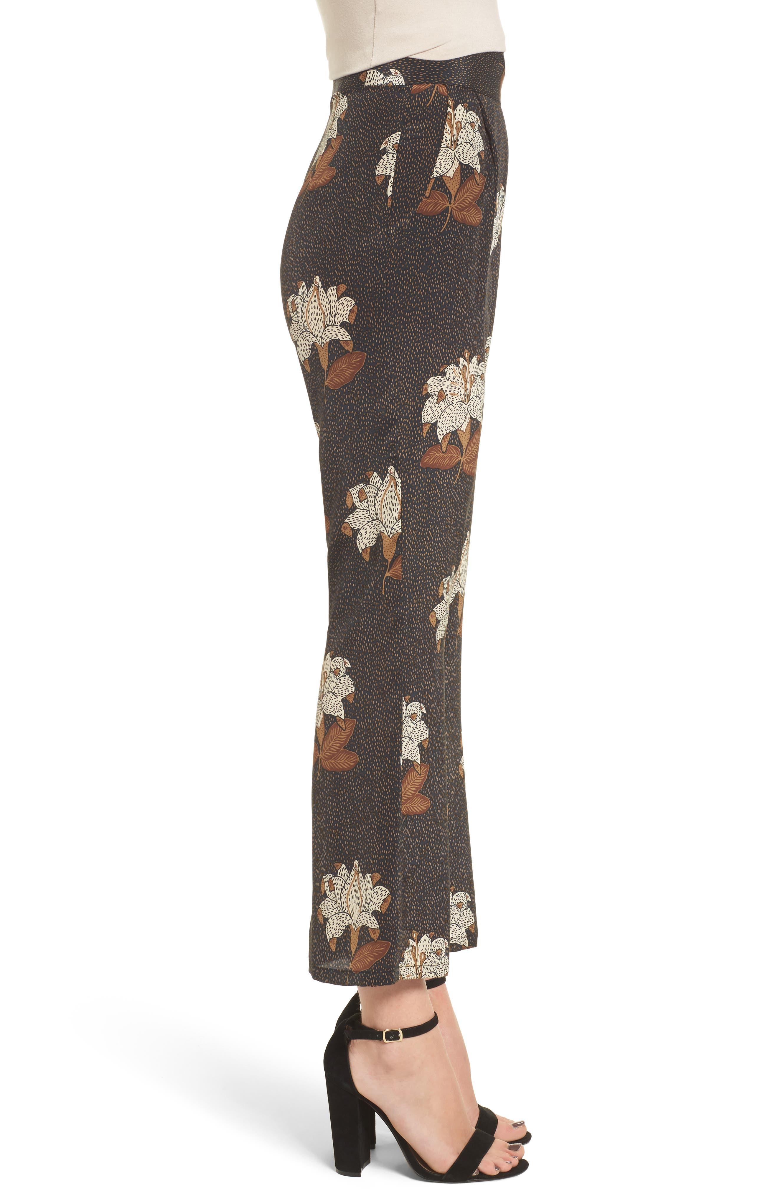 Isla Silk Crop Pants,                             Alternate thumbnail 3, color,                             Dries