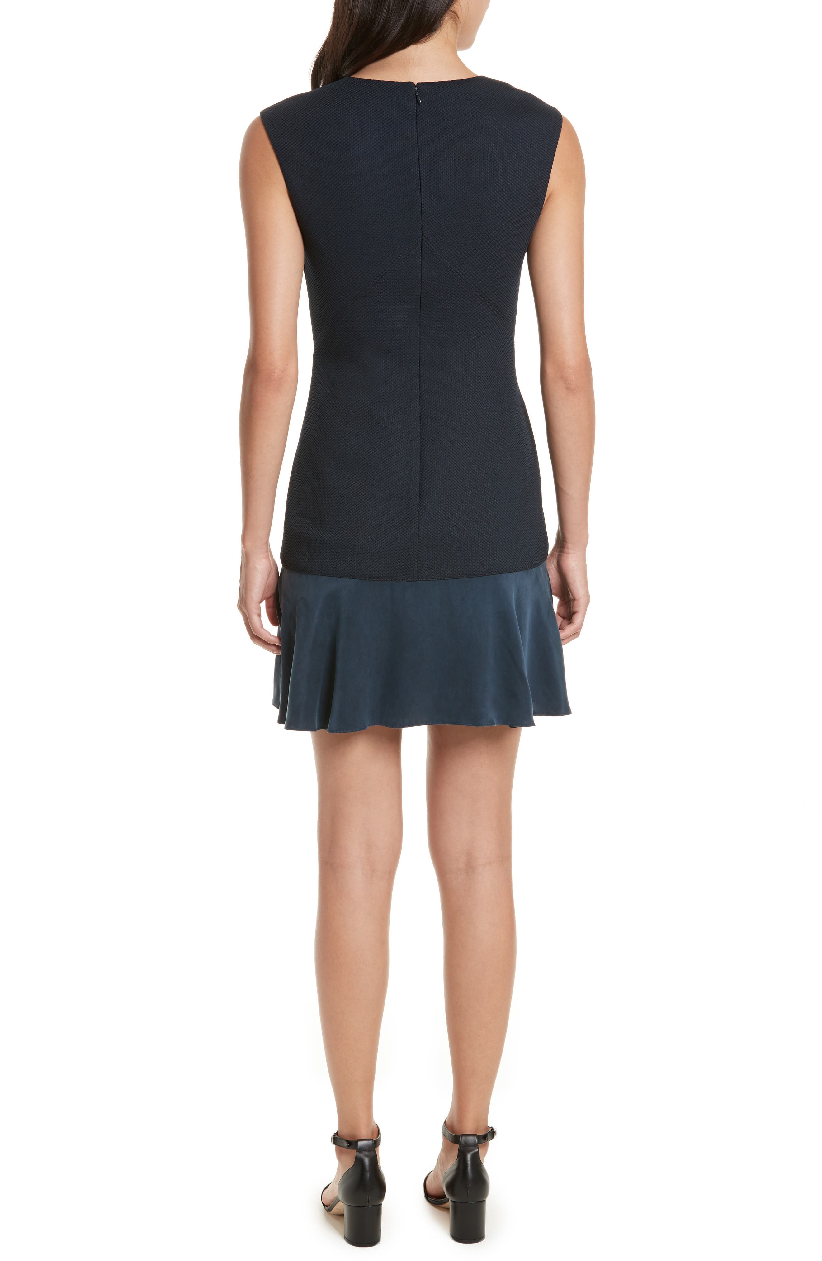 Stacy Drop Waist Dress,                             Alternate thumbnail 2, color,                             Navy