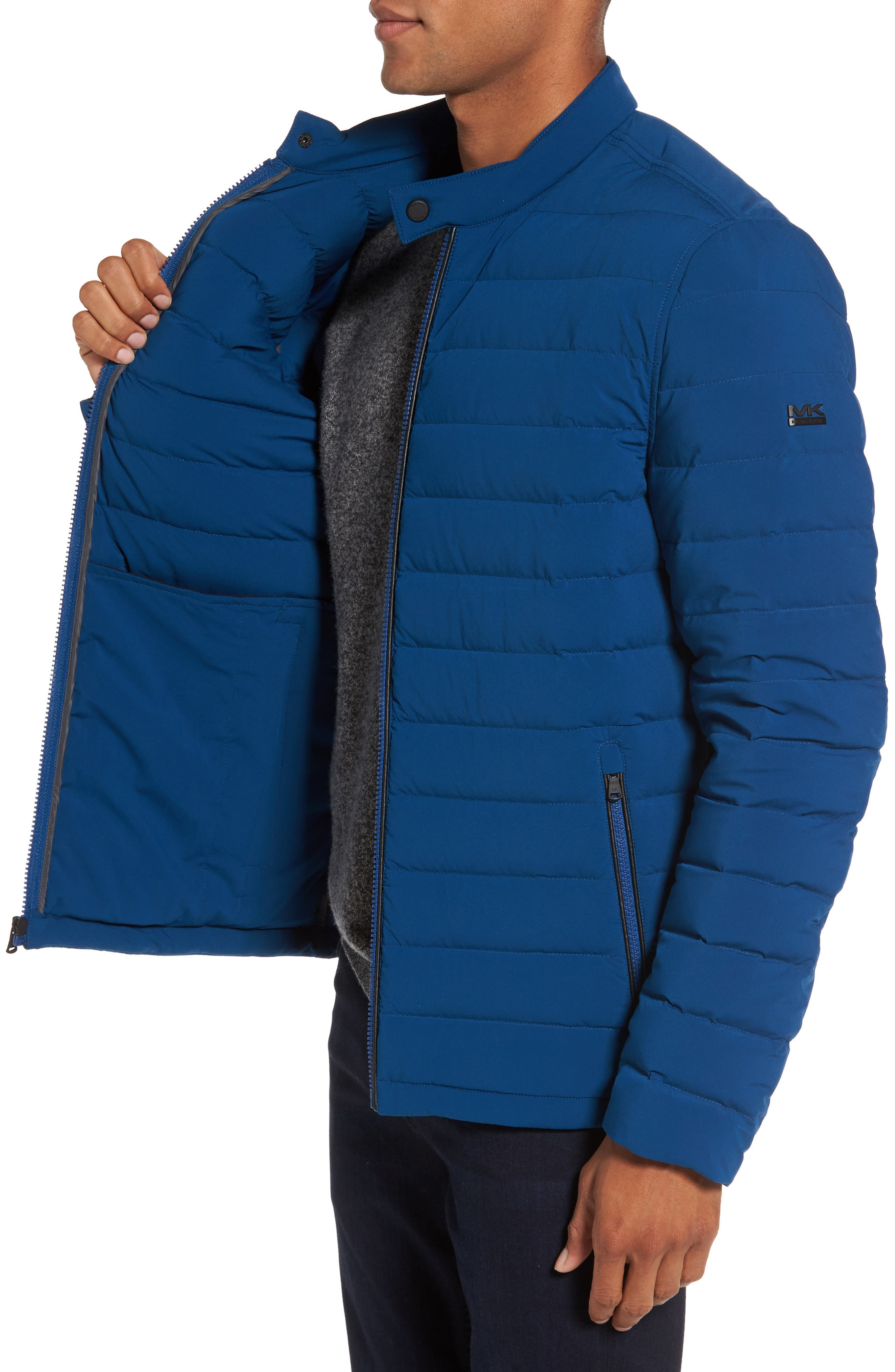 Packable Stretch Down Jacket,                             Alternate thumbnail 3, color,                             Pacific Blue