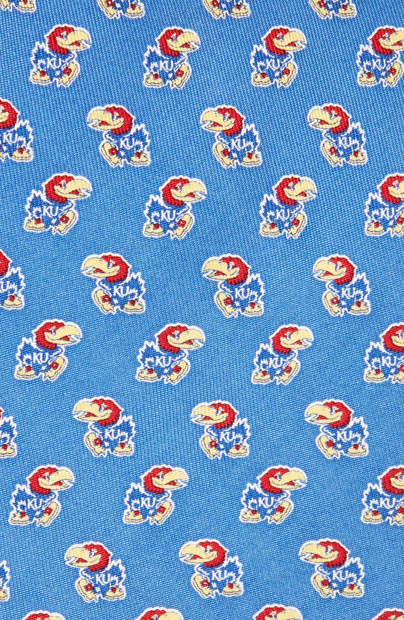 University of Kansas Silk Tie,                             Alternate thumbnail 2, color,                             Blue