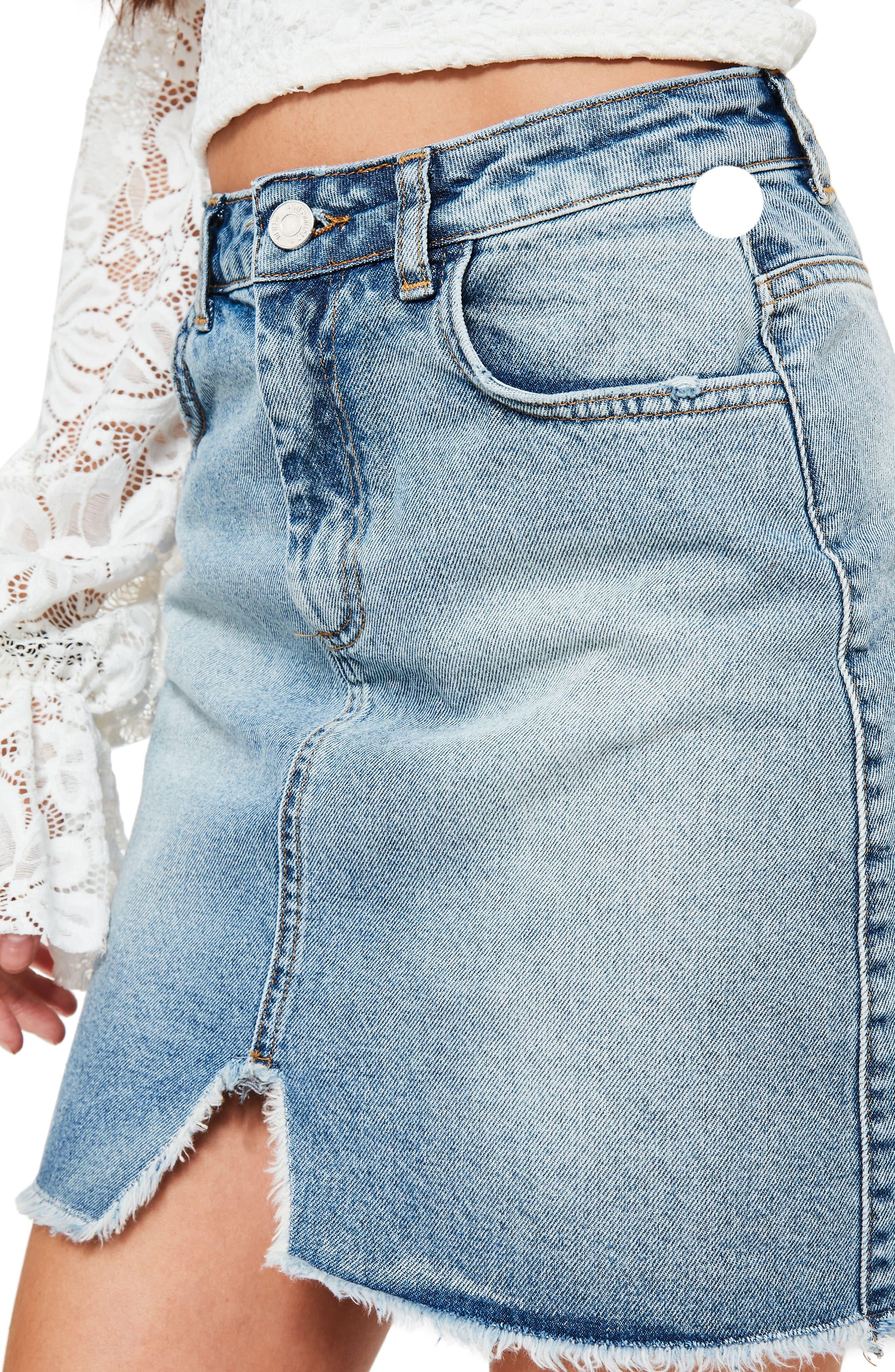 Alternate Image 3  - Missguided High Rise Denim Miniskirt