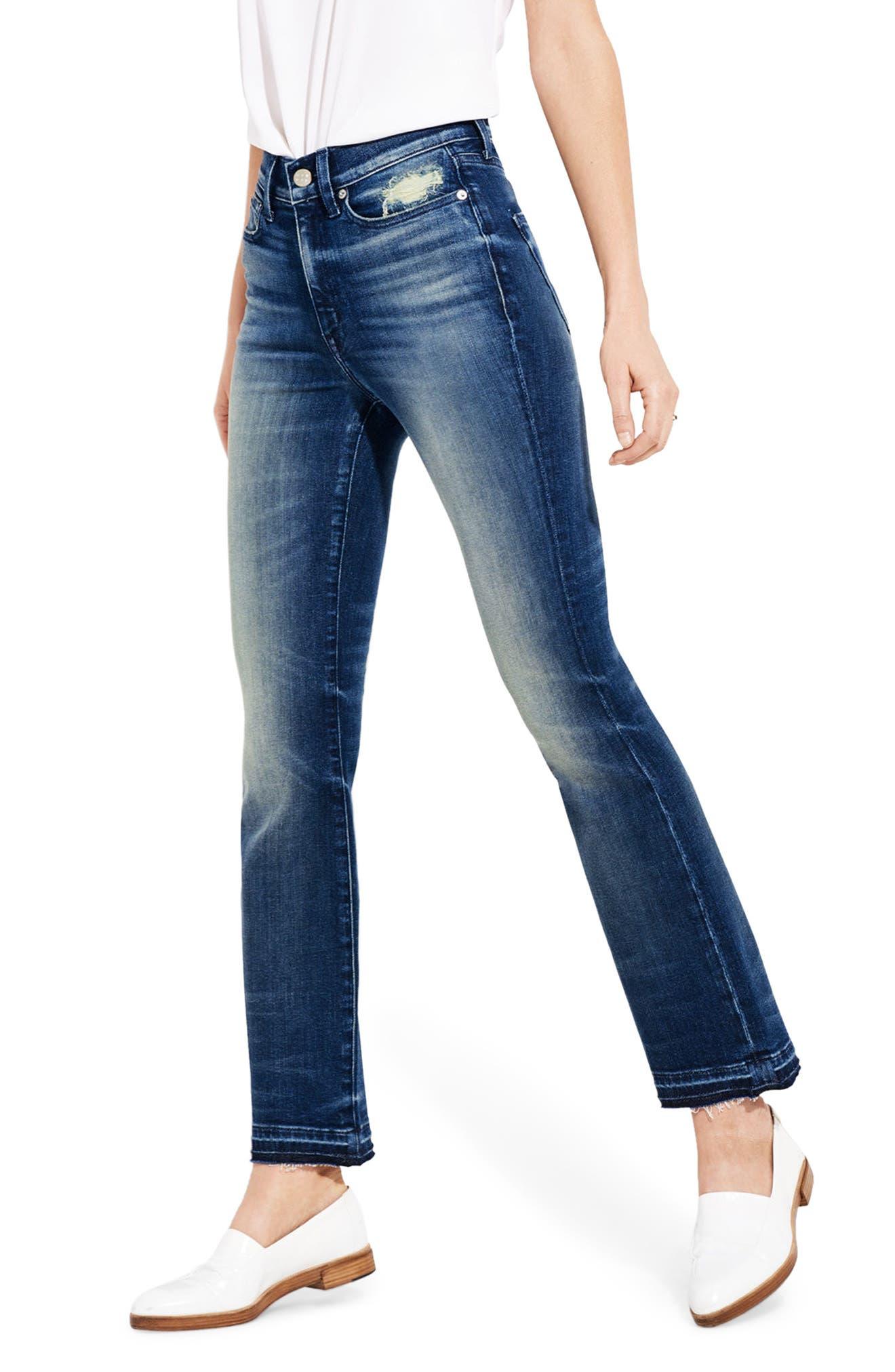 Alternate Image 1 Selected - AYR The Superba Straight Leg Ankle Jeans (Cobra)