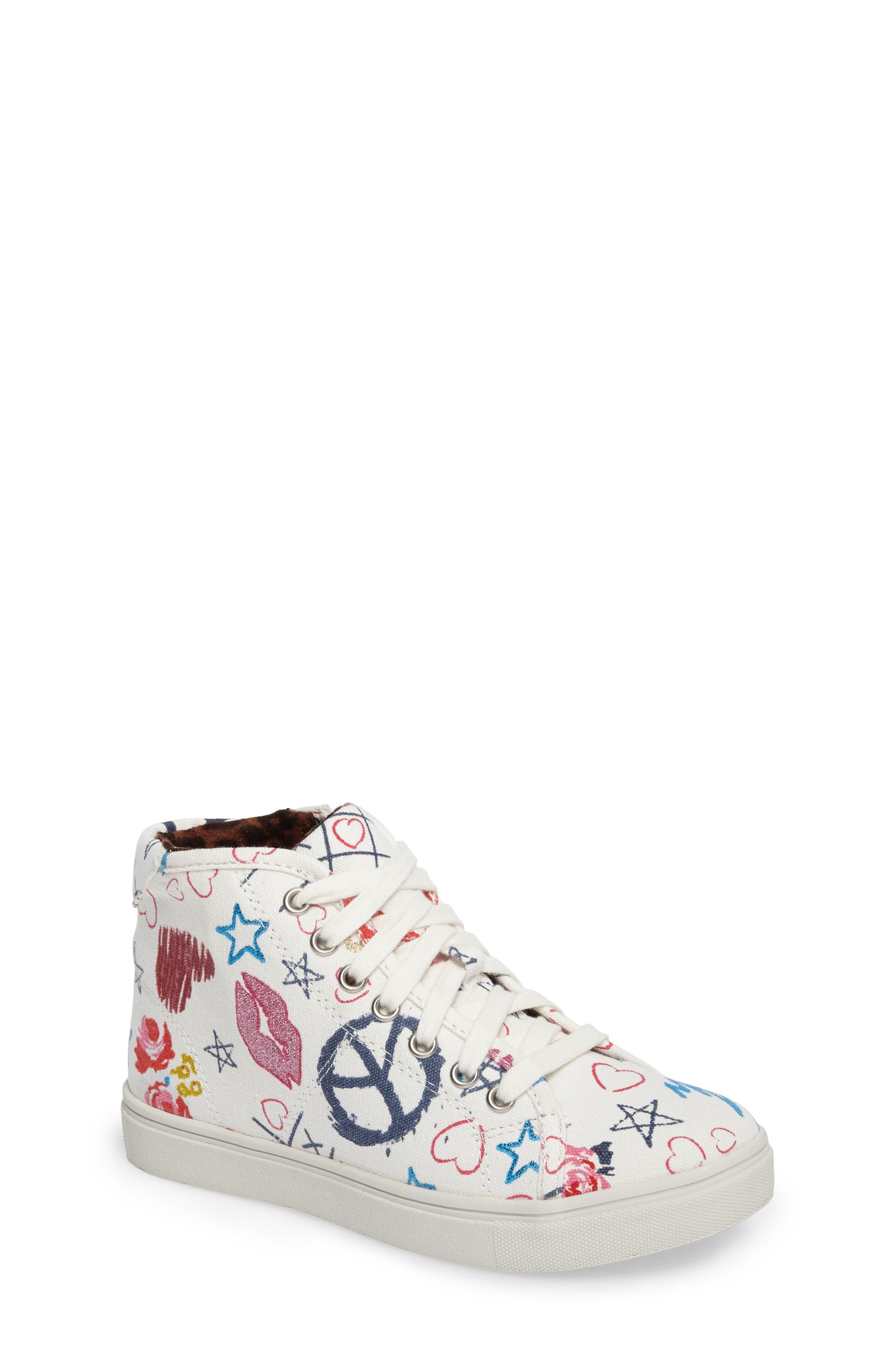 JScribble High Top Sneaker,                         Main,                         color, White
