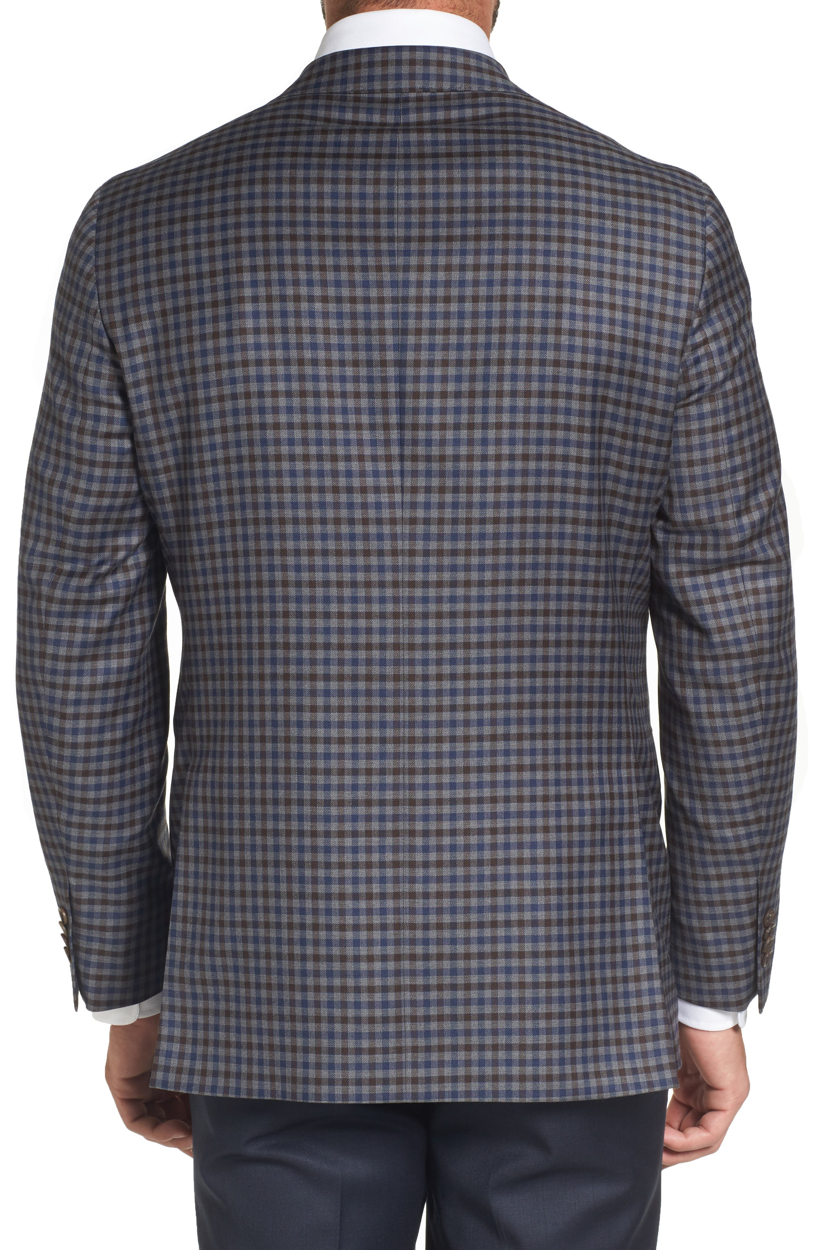 Arnold Classic Fit Check Wool Sport Coat,                             Alternate thumbnail 2, color,                             Grey