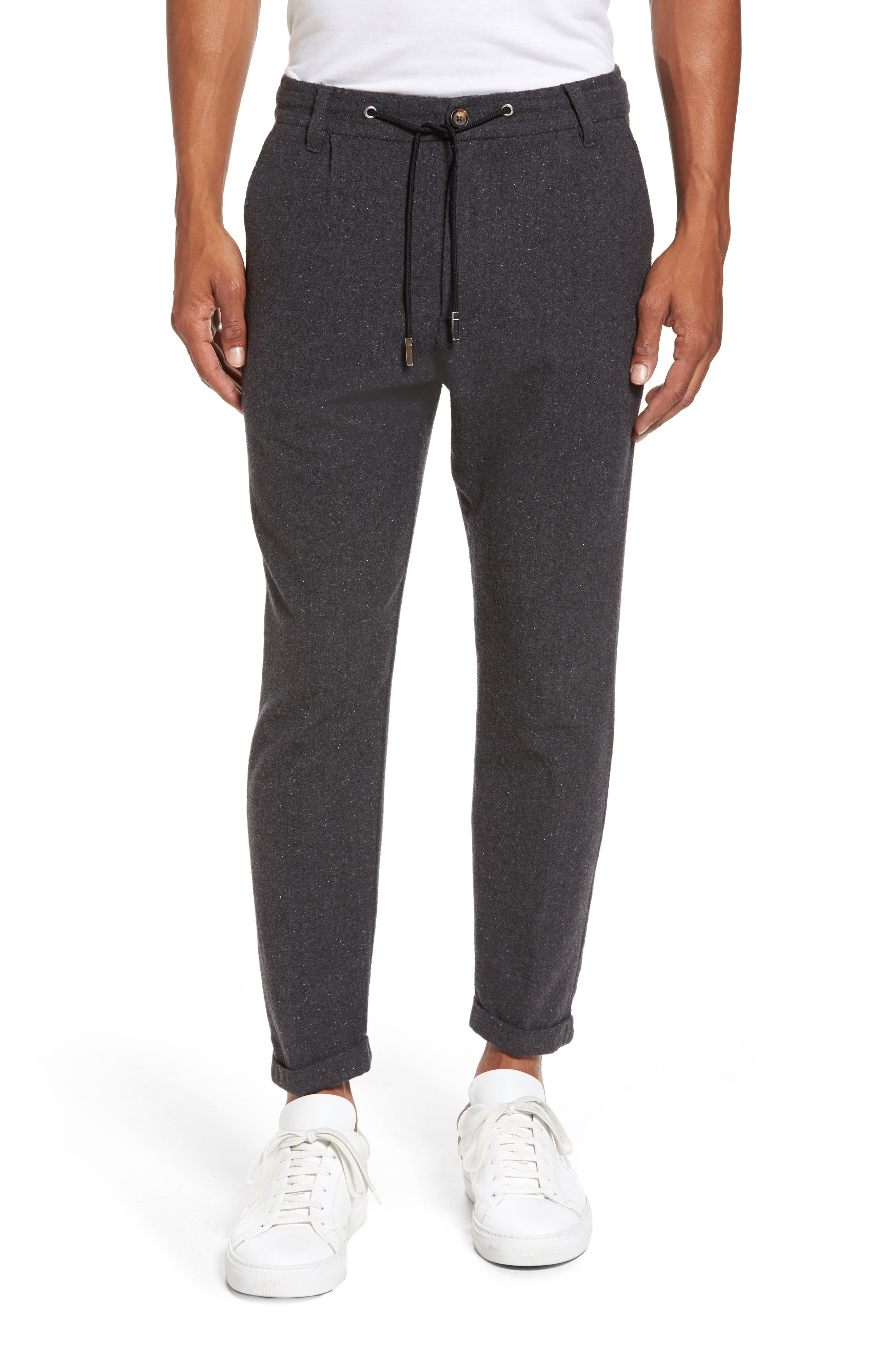 Donegal Stretch Wool Jogger Pants,                         Main,                         color, Dark Grey