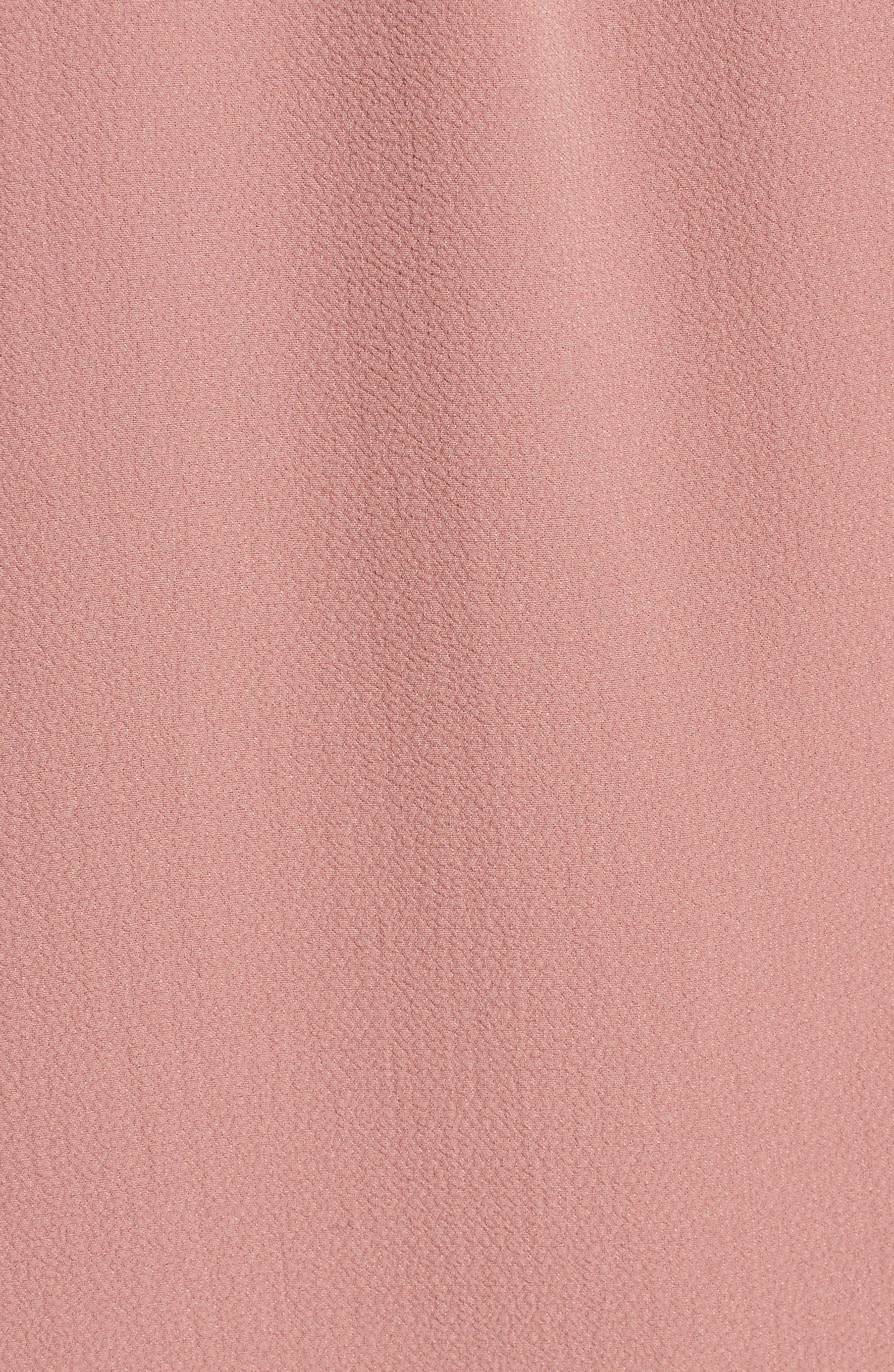 Bell Sleeve Off the Shoulder Shift Dress,                             Alternate thumbnail 5, color,                             Mauve