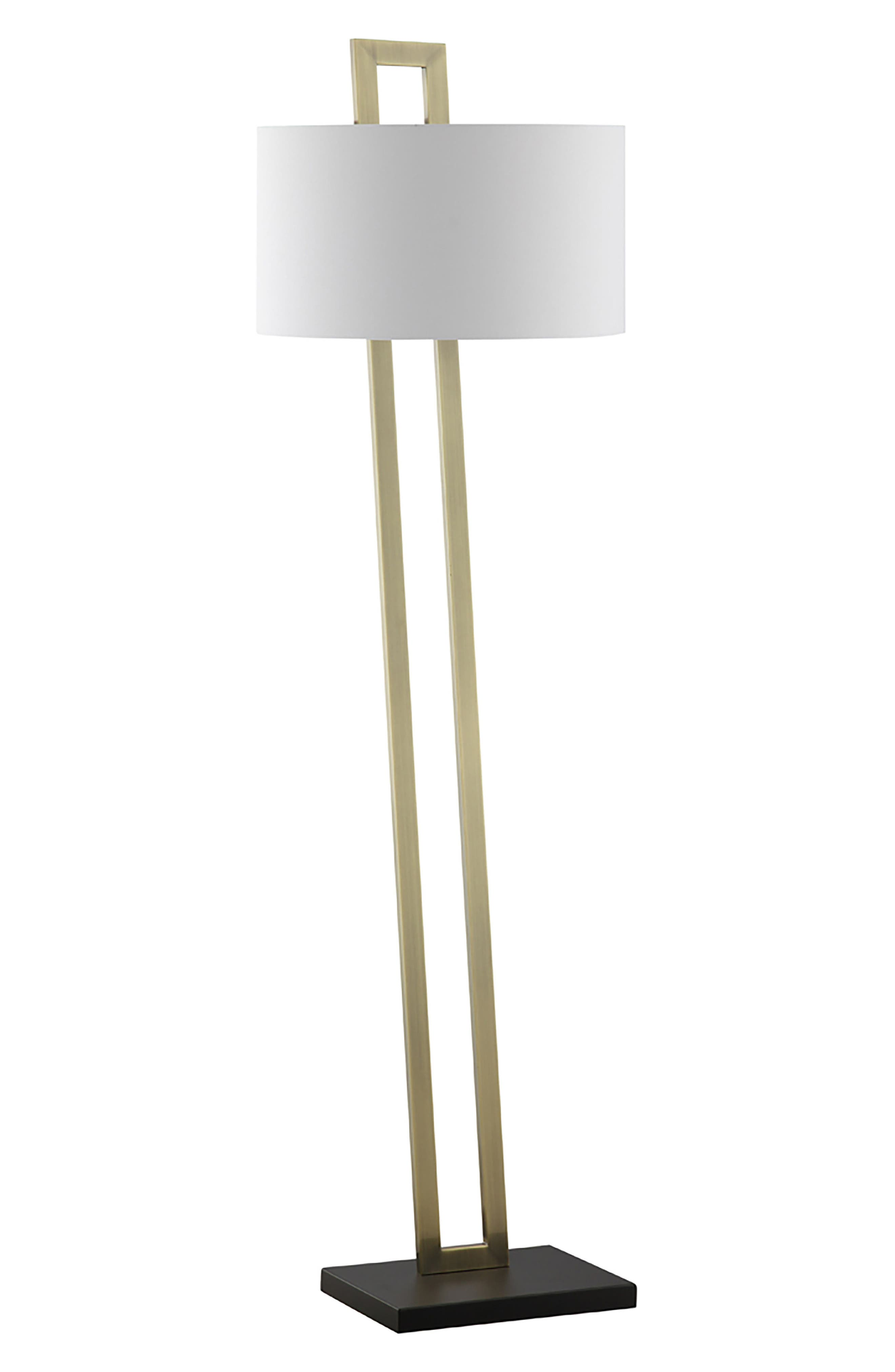 JAlexander Preston Floor Lamp,                             Main thumbnail 1, color,                             Brass