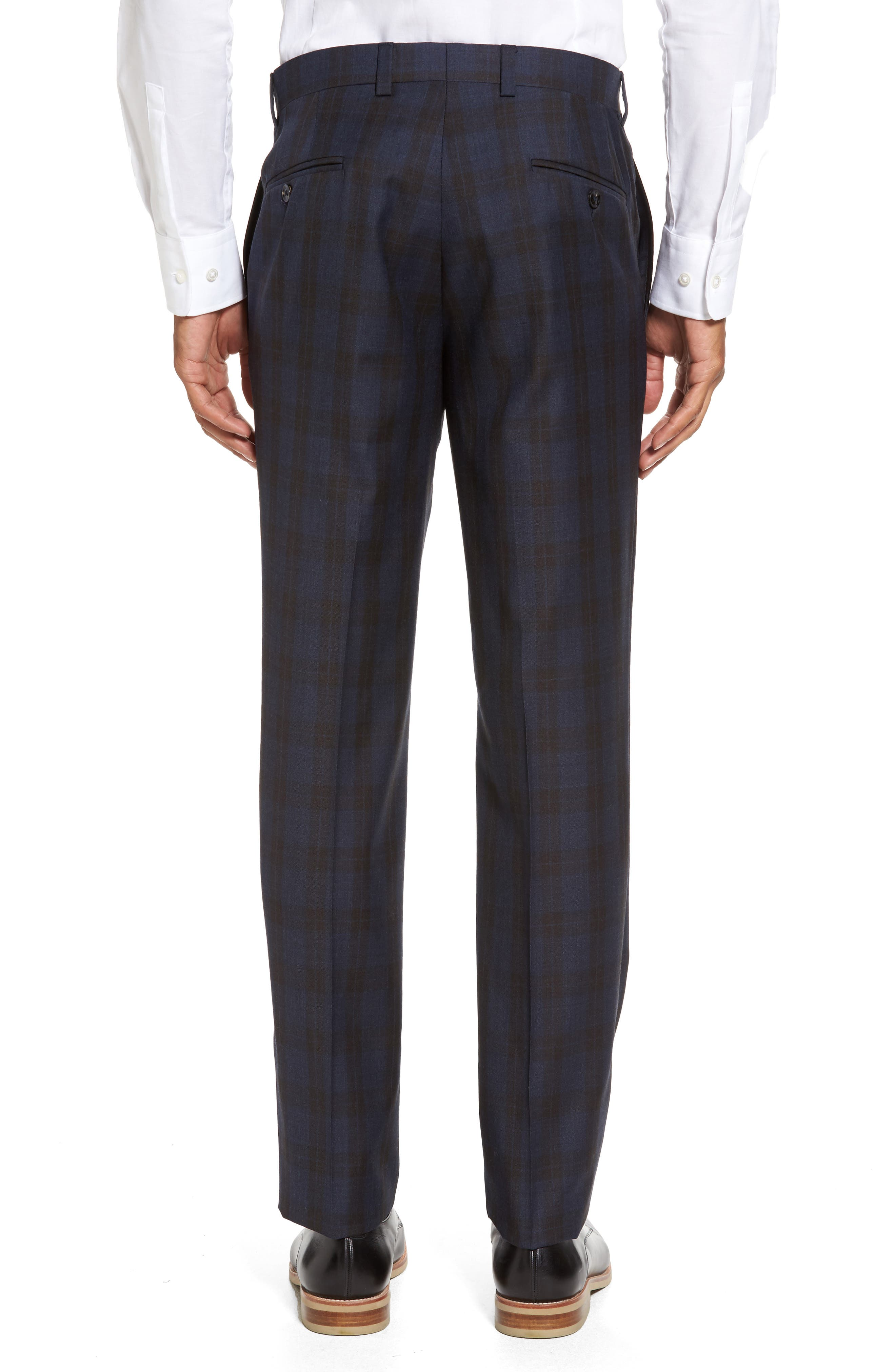 Alternate Image 3  - Ted Baker London Jefferson Flat Front Plaid Wool Trousers
