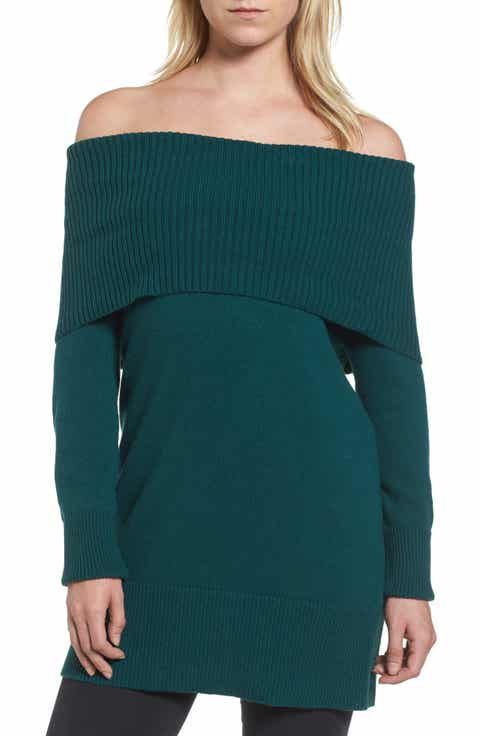 Women's Green Off The Shoulder Sweaters | Nordstrom