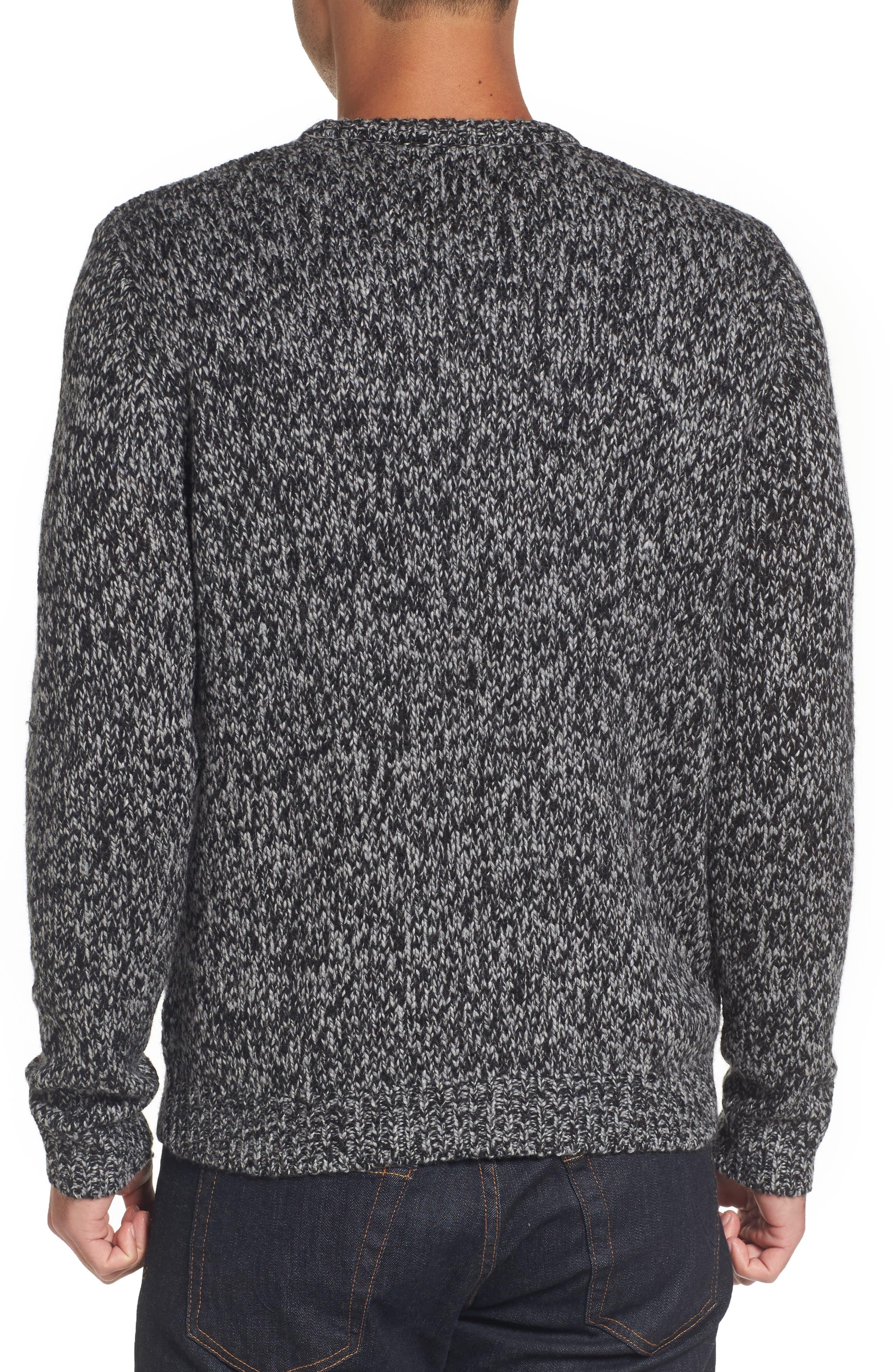 Alternate Image 2  - Nordstrom Men's Shop Marled Yarn Sweater