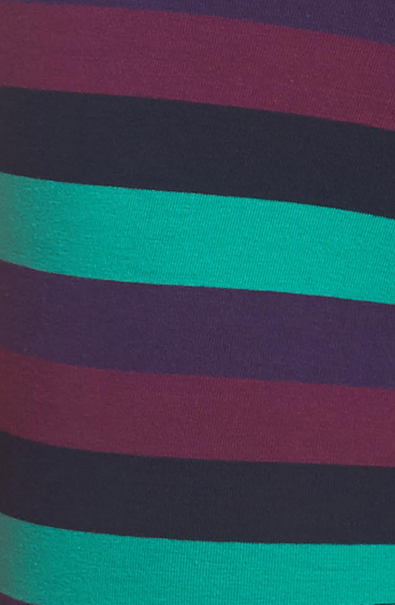 Stripe Stretch Cotton Trunks,                             Alternate thumbnail 4, color,                             Purple