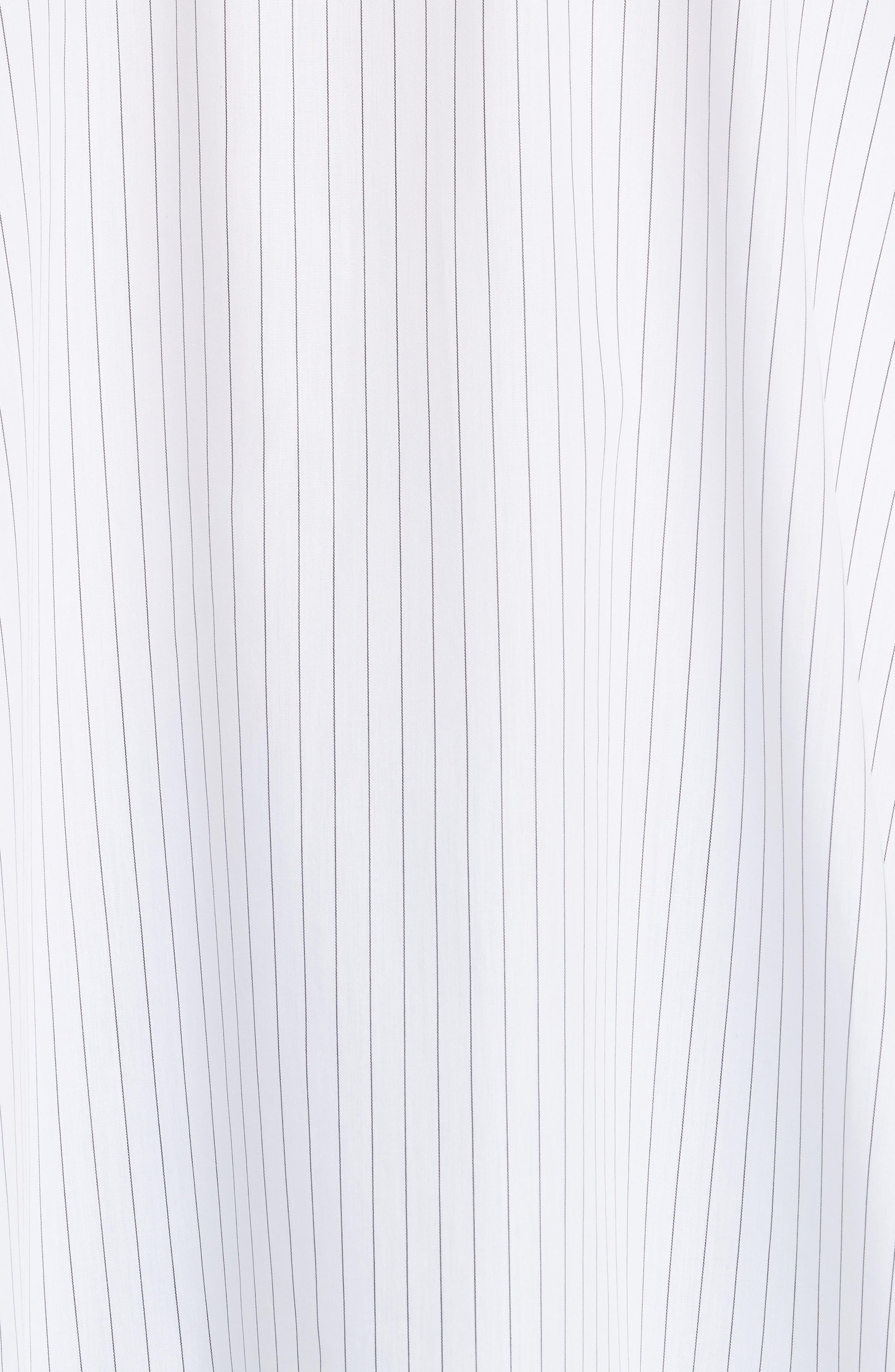 Stripe Poplin Top,                             Alternate thumbnail 5, color,                             White/ Black Stripe