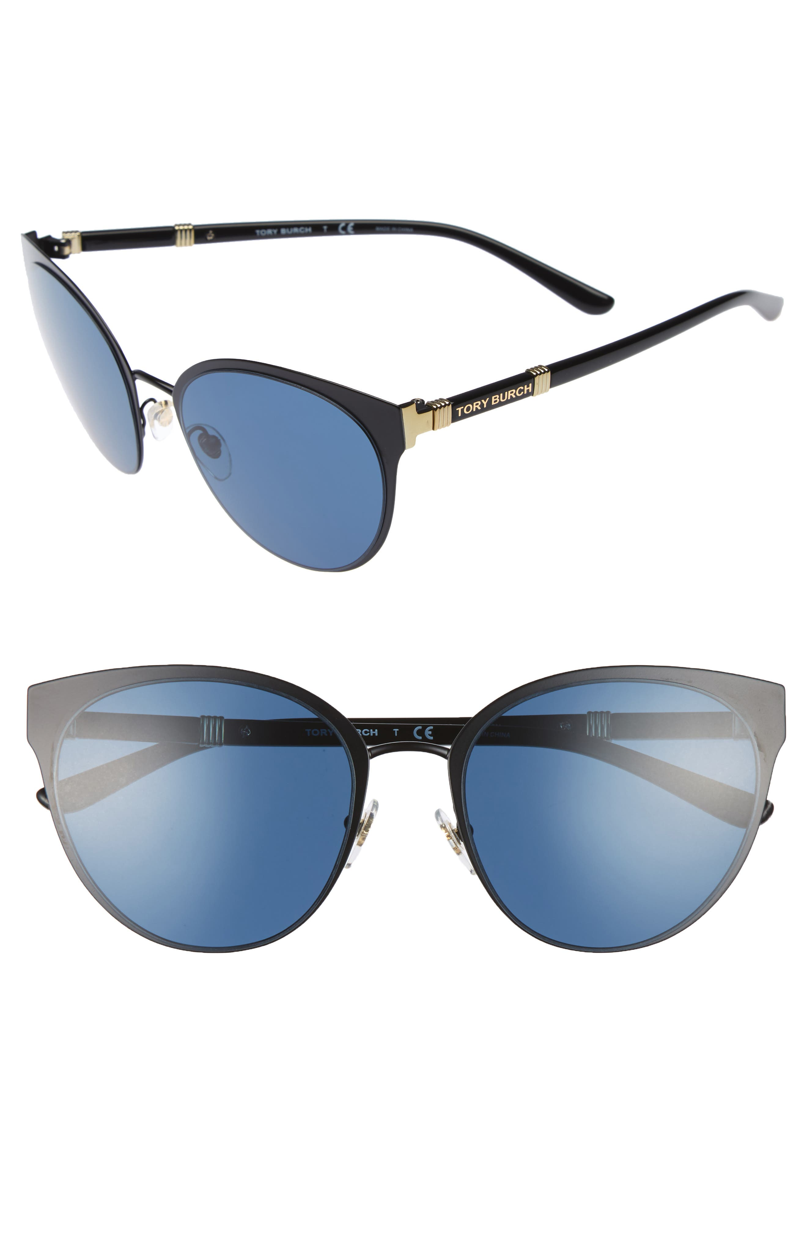 Main Image - Tory Burch 55mm Cat Eye Sunglasses