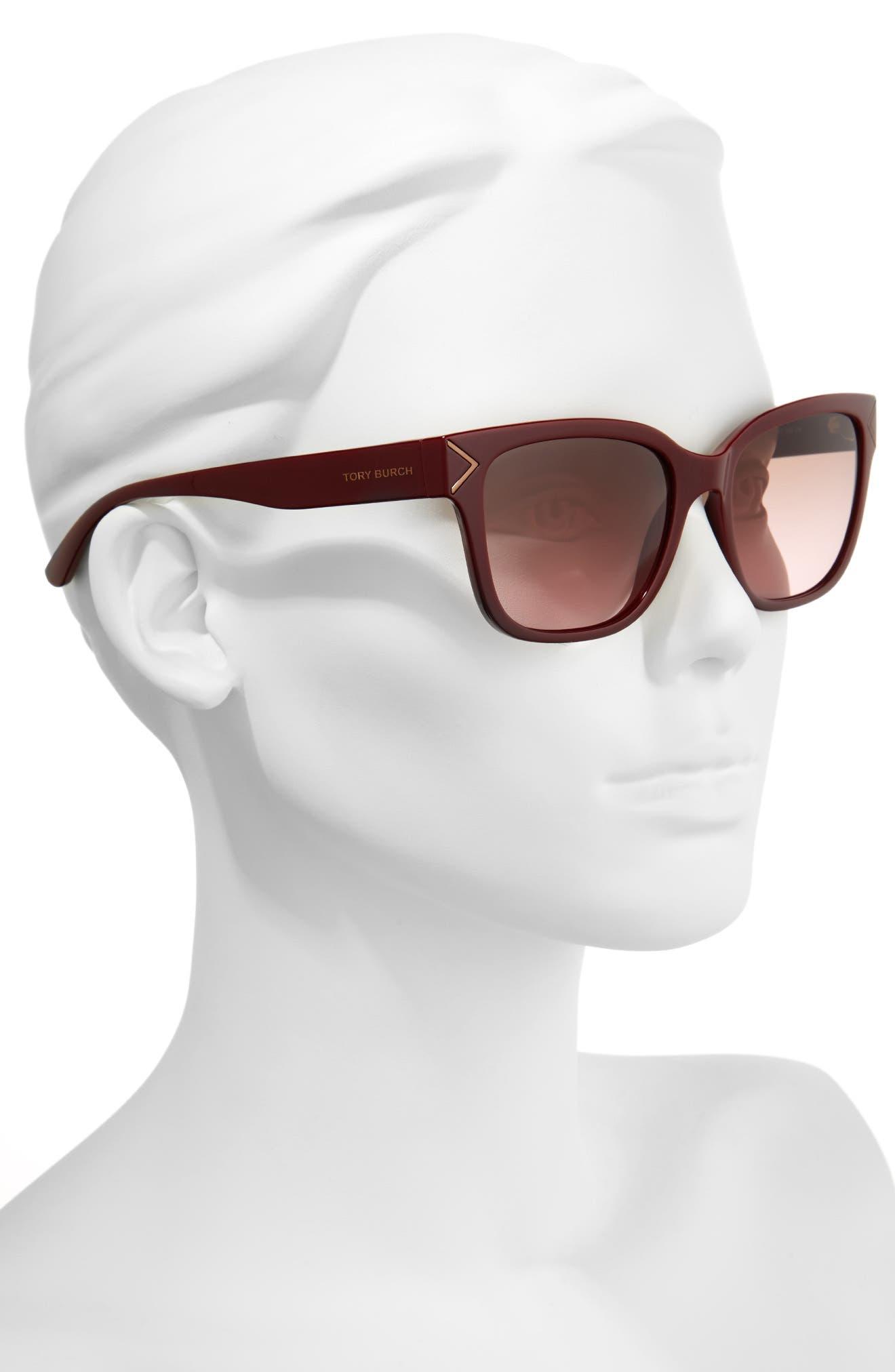 Alternate Image 2  - Tory Burch 55mm Gradient Sunglasses