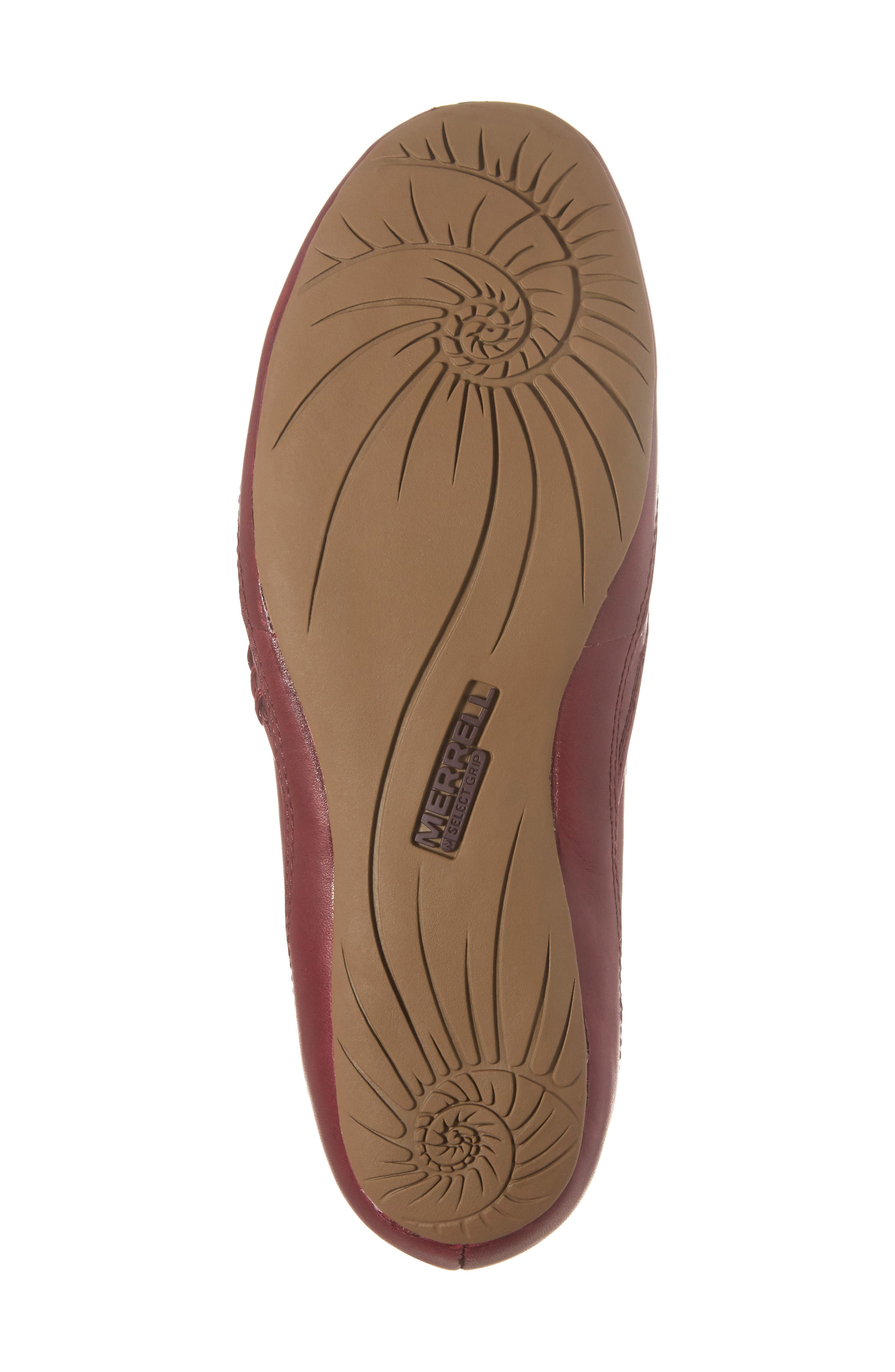 Ember Ballet Flat,                             Alternate thumbnail 6, color,                             Beet Red Leather