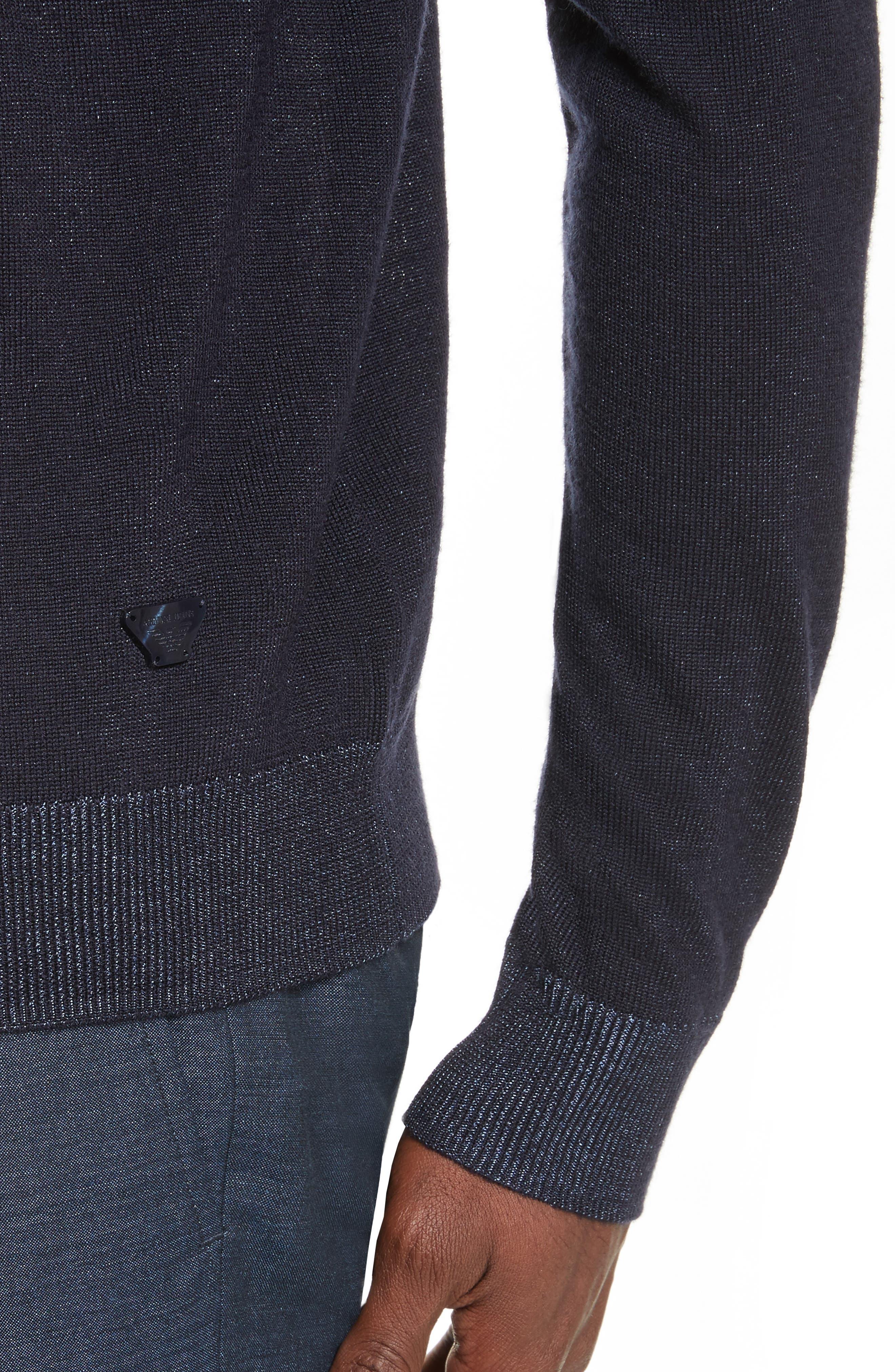 AJ V-Neck Sweater,                             Alternate thumbnail 4, color,                             Night Blue
