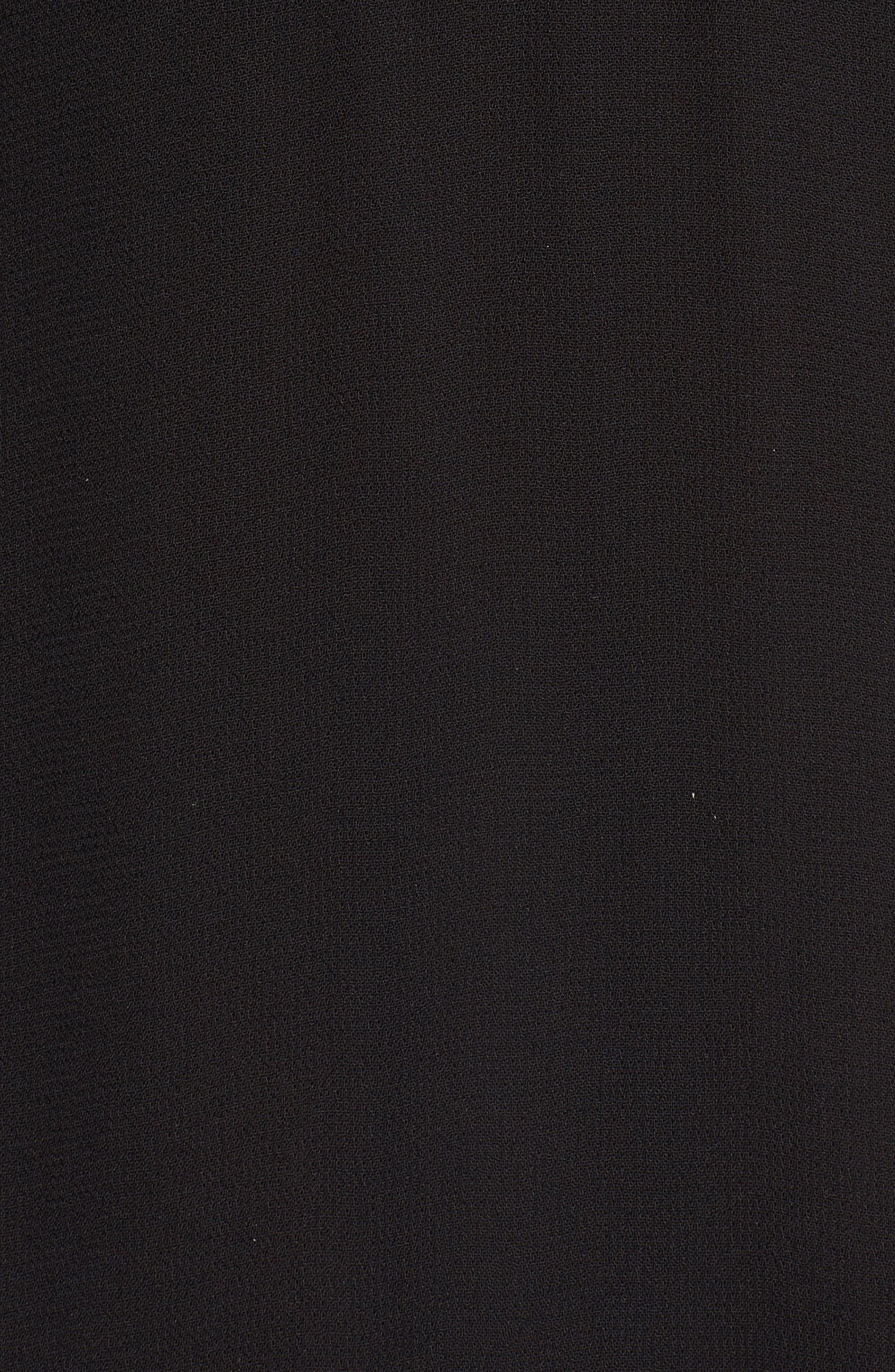 Kirsten A-Line Dress,                             Alternate thumbnail 5, color,                             Black