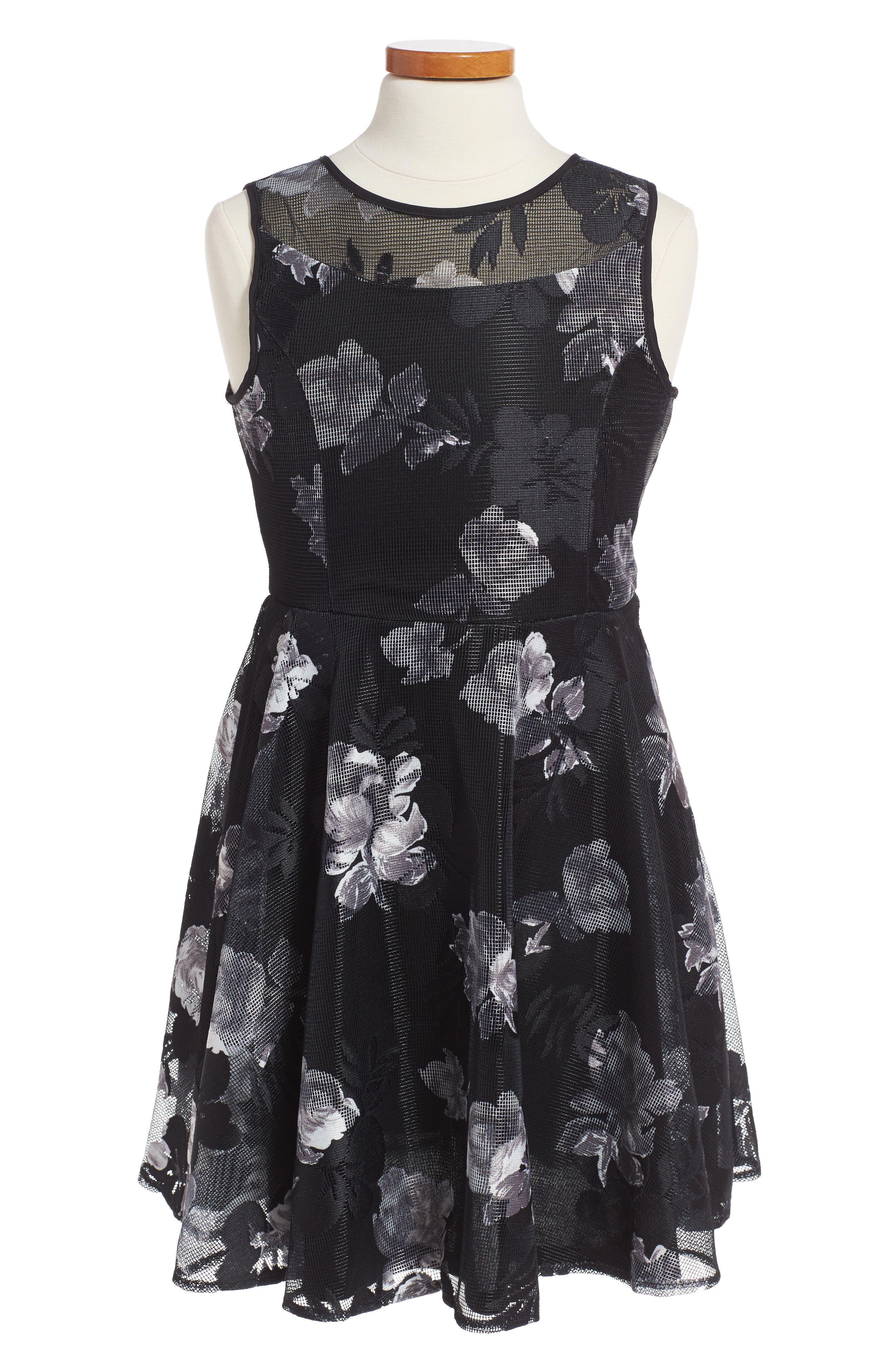 Pippa & Julie Floral Lace Dress (Little Girls & Big Girls)
