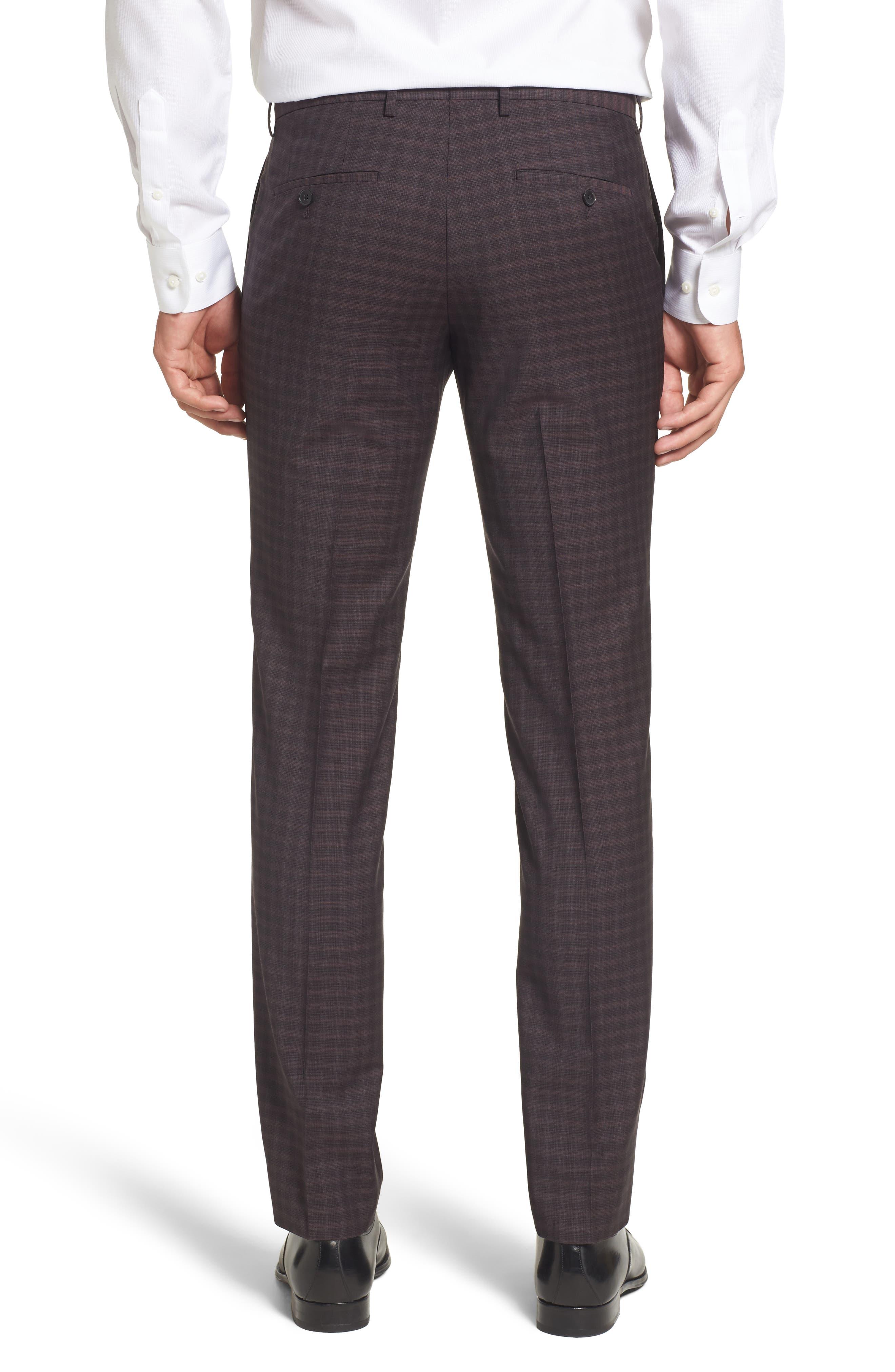 Benso Regular Fit Wool Trousers,                             Alternate thumbnail 2, color,                             Dark Red