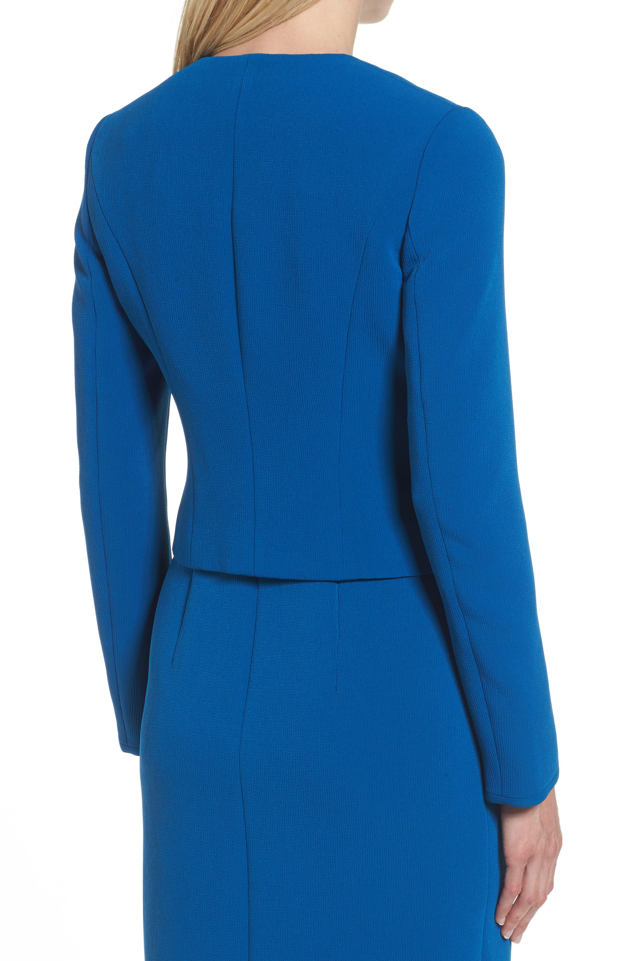 Alternate Image 2  - BOSS Jerusa Crop Suit Jacket (Petite) (Nordstrom Exclusive)