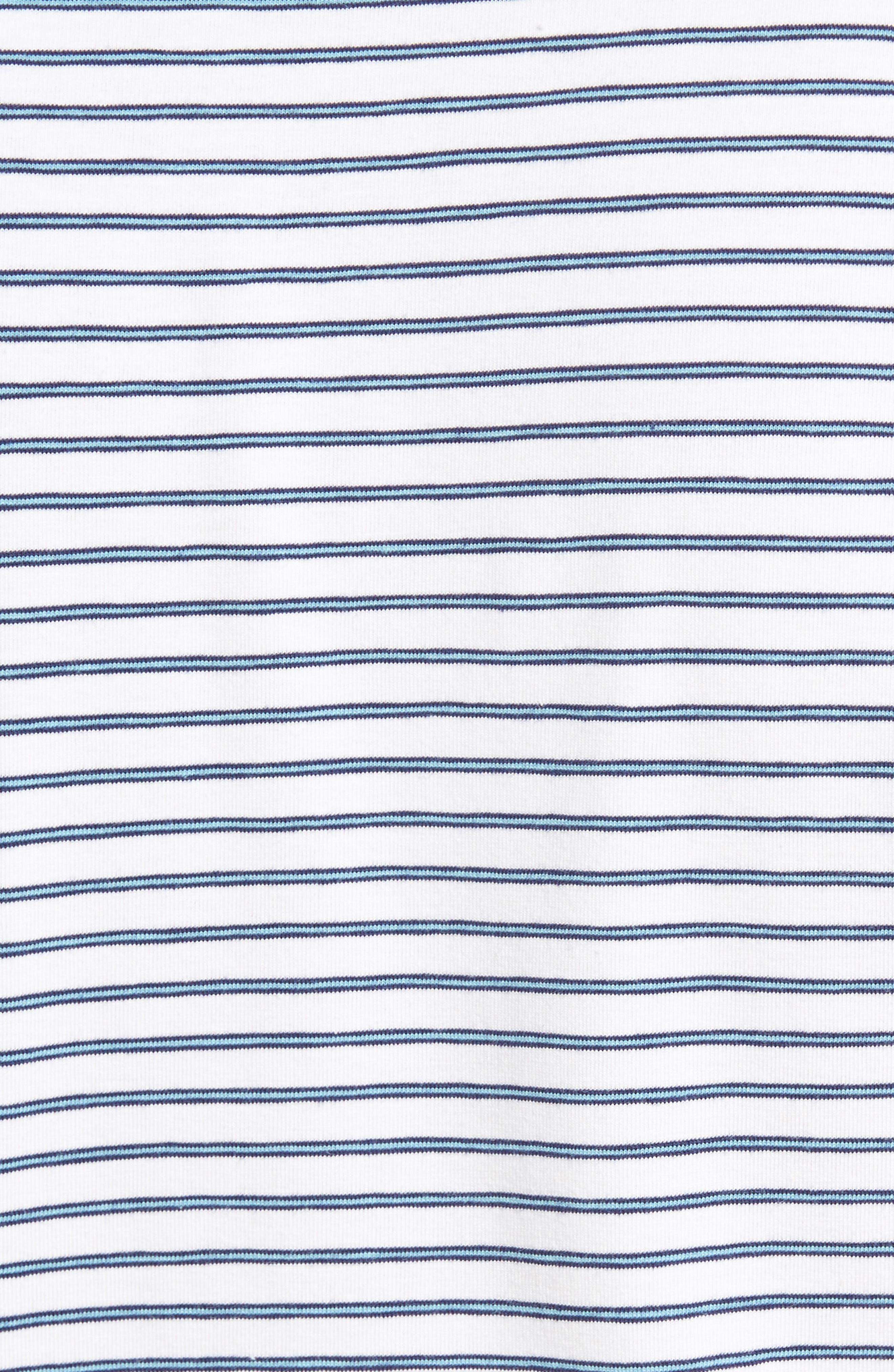Stratton Mountainside Stripe Jersey Polo,                             Alternate thumbnail 6, color,                             White