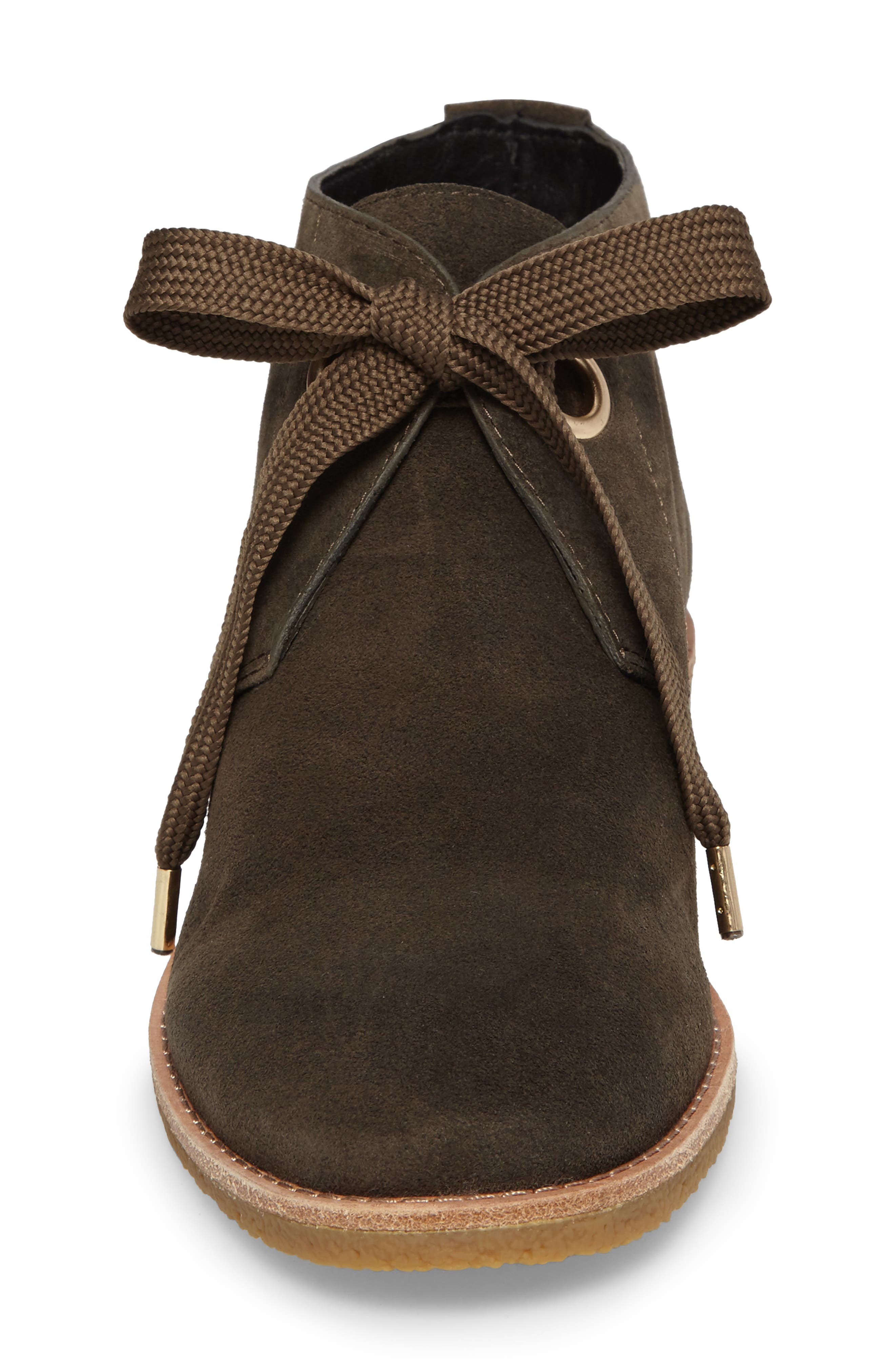 barrow chukka boot,                             Alternate thumbnail 4, color,                             Olive Green Suede