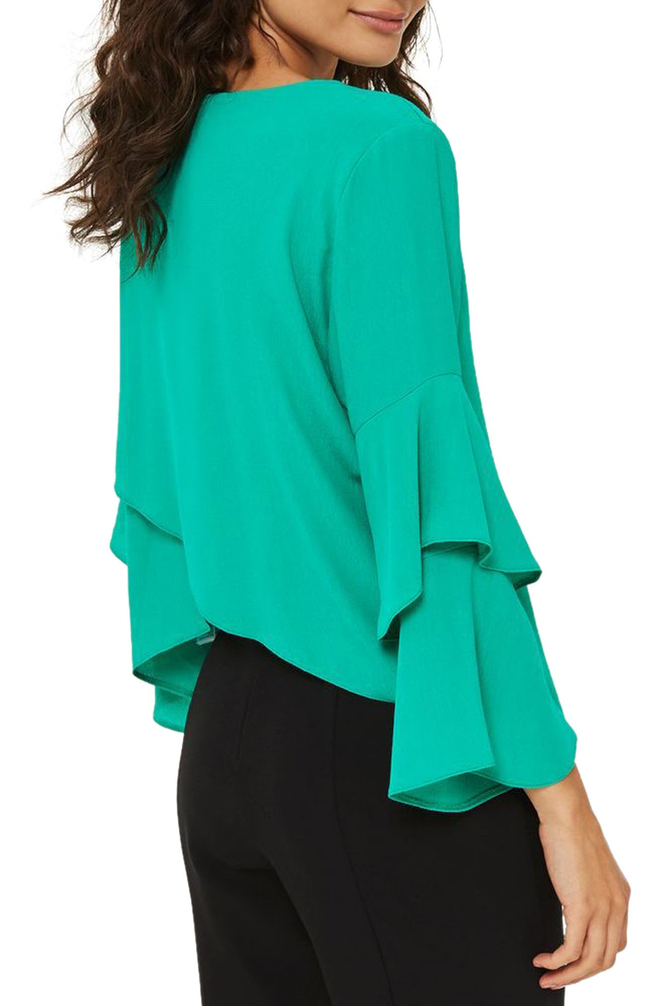 Alternate Image 2  - Topshop Double Sleeve Layer Top