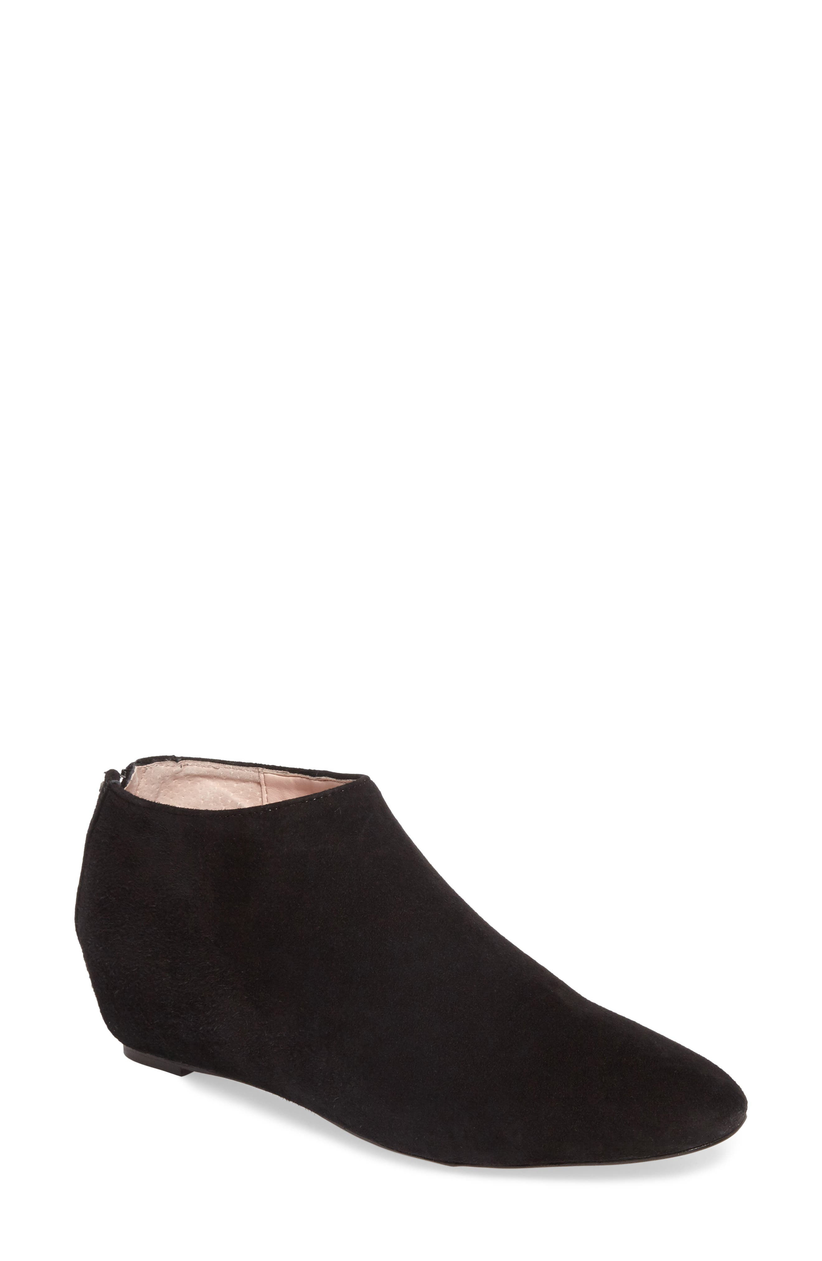 Aves Les Filles Beatrice Ankle Boot,                             Main thumbnail 1, color,                             Black Suede