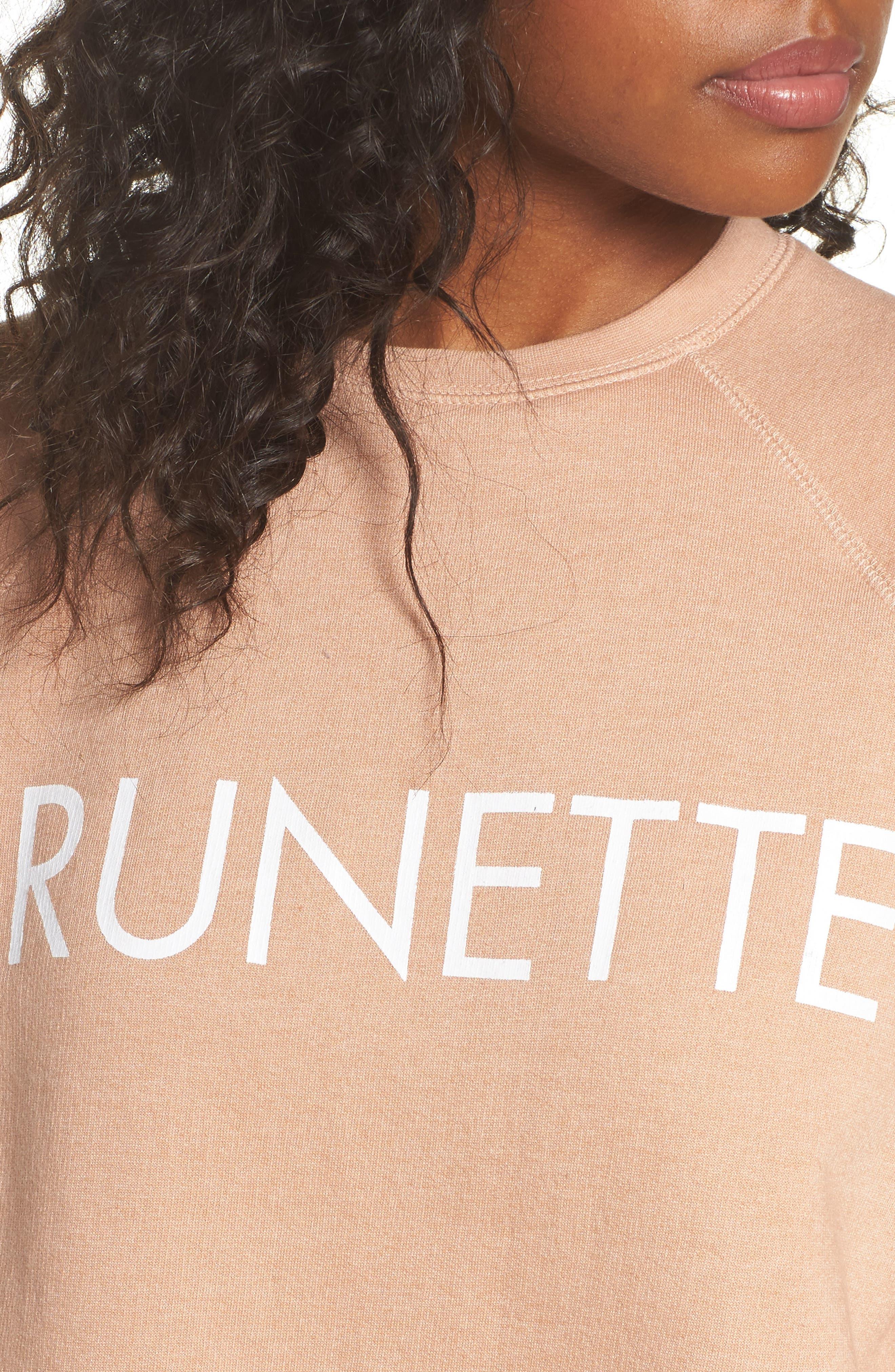 Middle Sister Brunette Sweatshirt,                             Alternate thumbnail 6, color,                             Rose