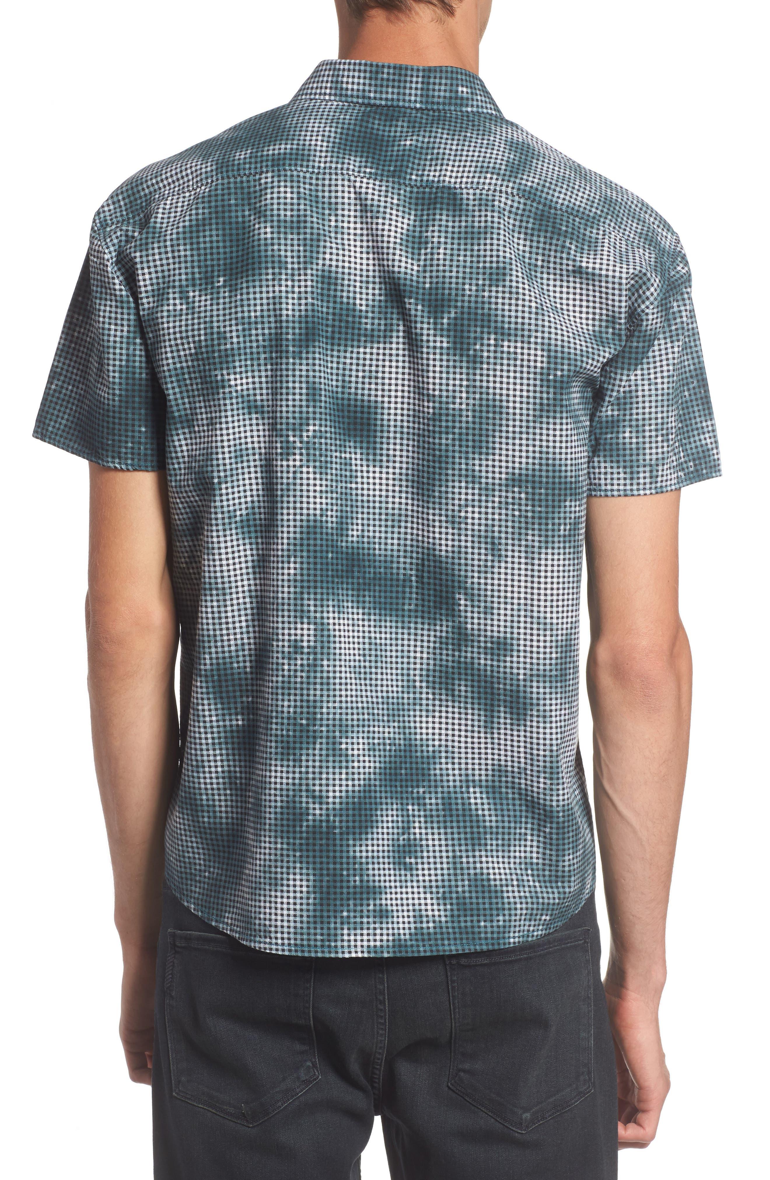 Tie Dye Check Shirt,                             Alternate thumbnail 2, color,                             Arona Blue