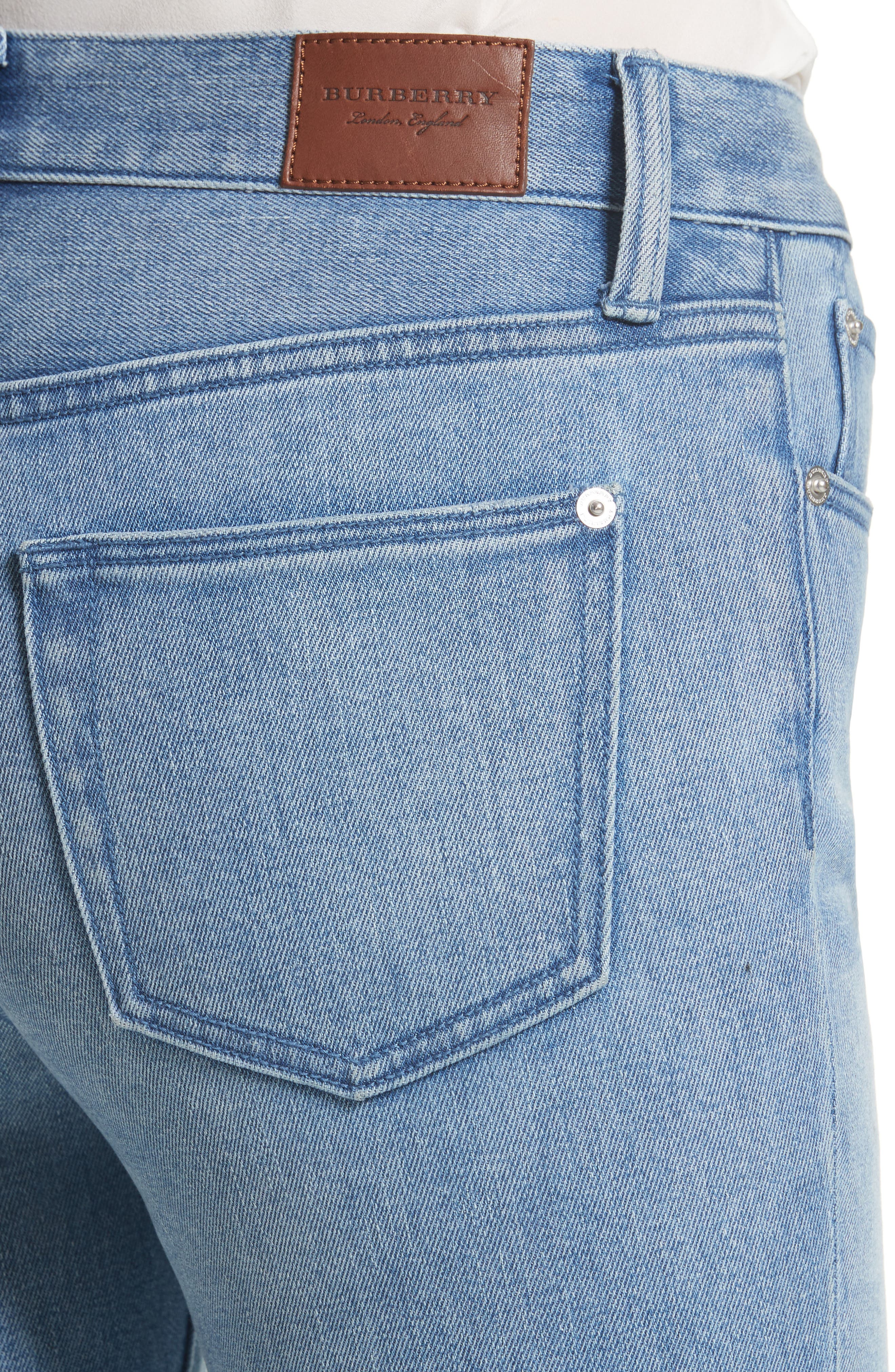 Relaxed Crop Jeans,                             Alternate thumbnail 4, color,                             Pale Blue