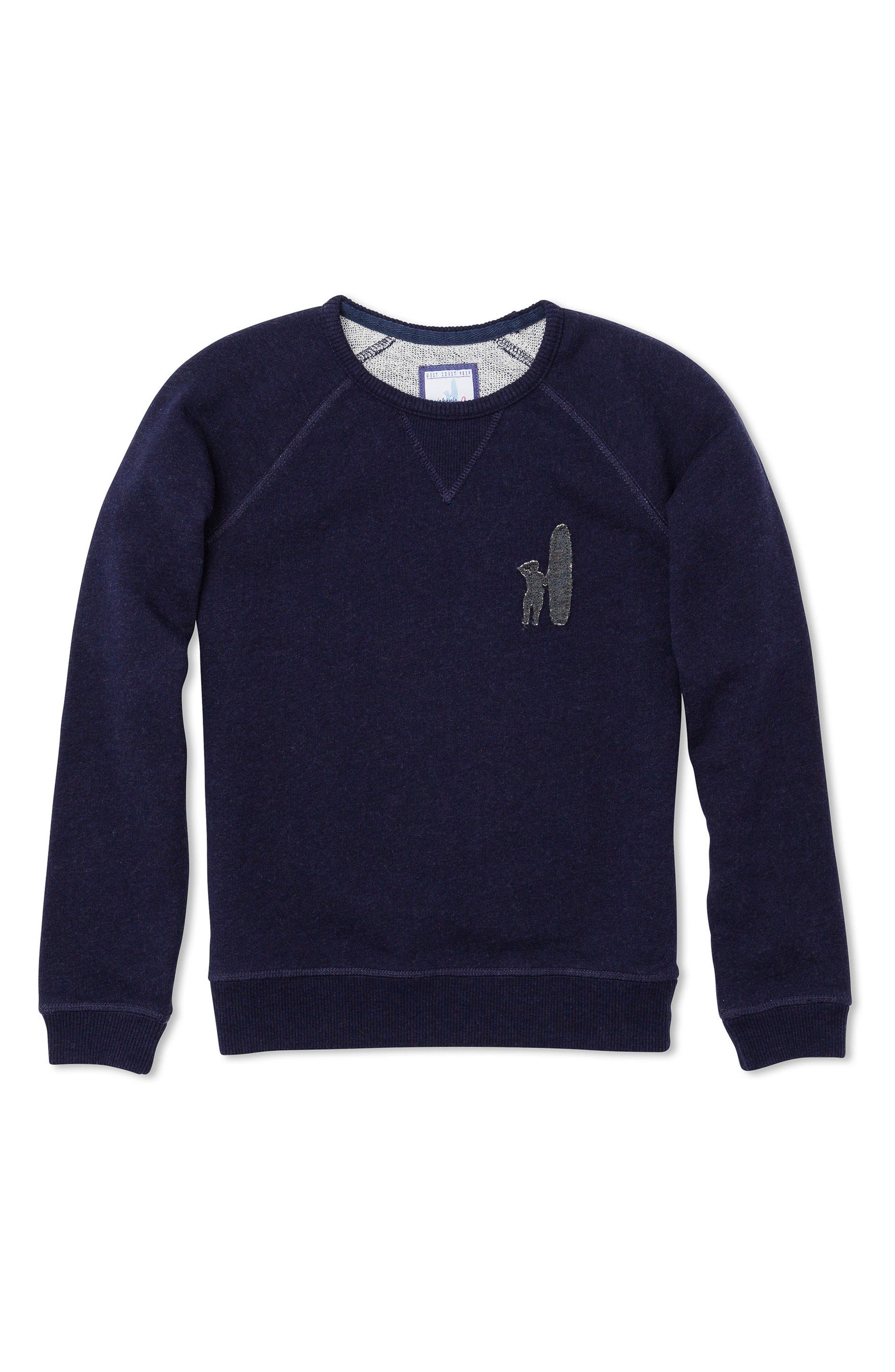 Riley Logo Sweatshirt,                             Main thumbnail 1, color,                             Abyss