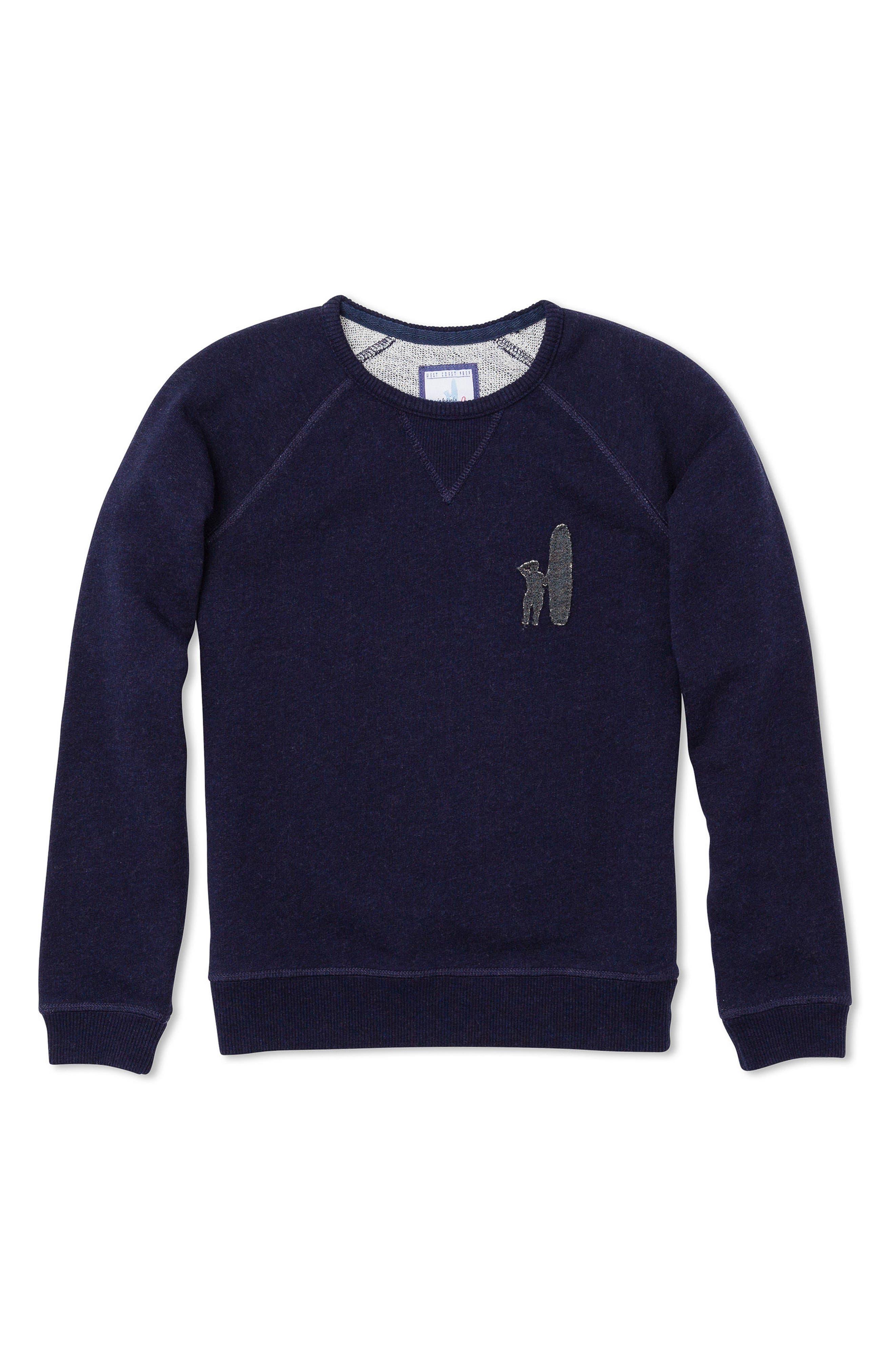 Riley Logo Sweatshirt,                         Main,                         color, Abyss
