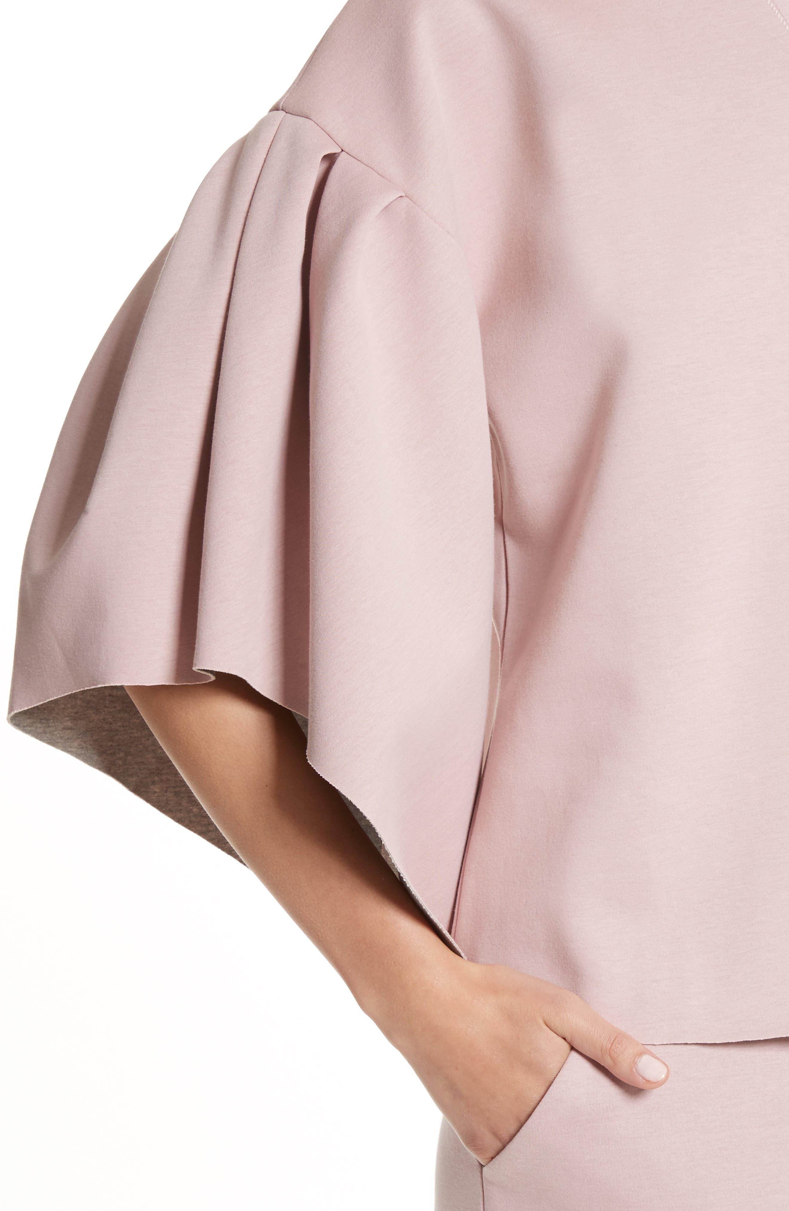 Orcher Full Sleeve Sweatshirt,                             Alternate thumbnail 4, color,                             Dusky Pink