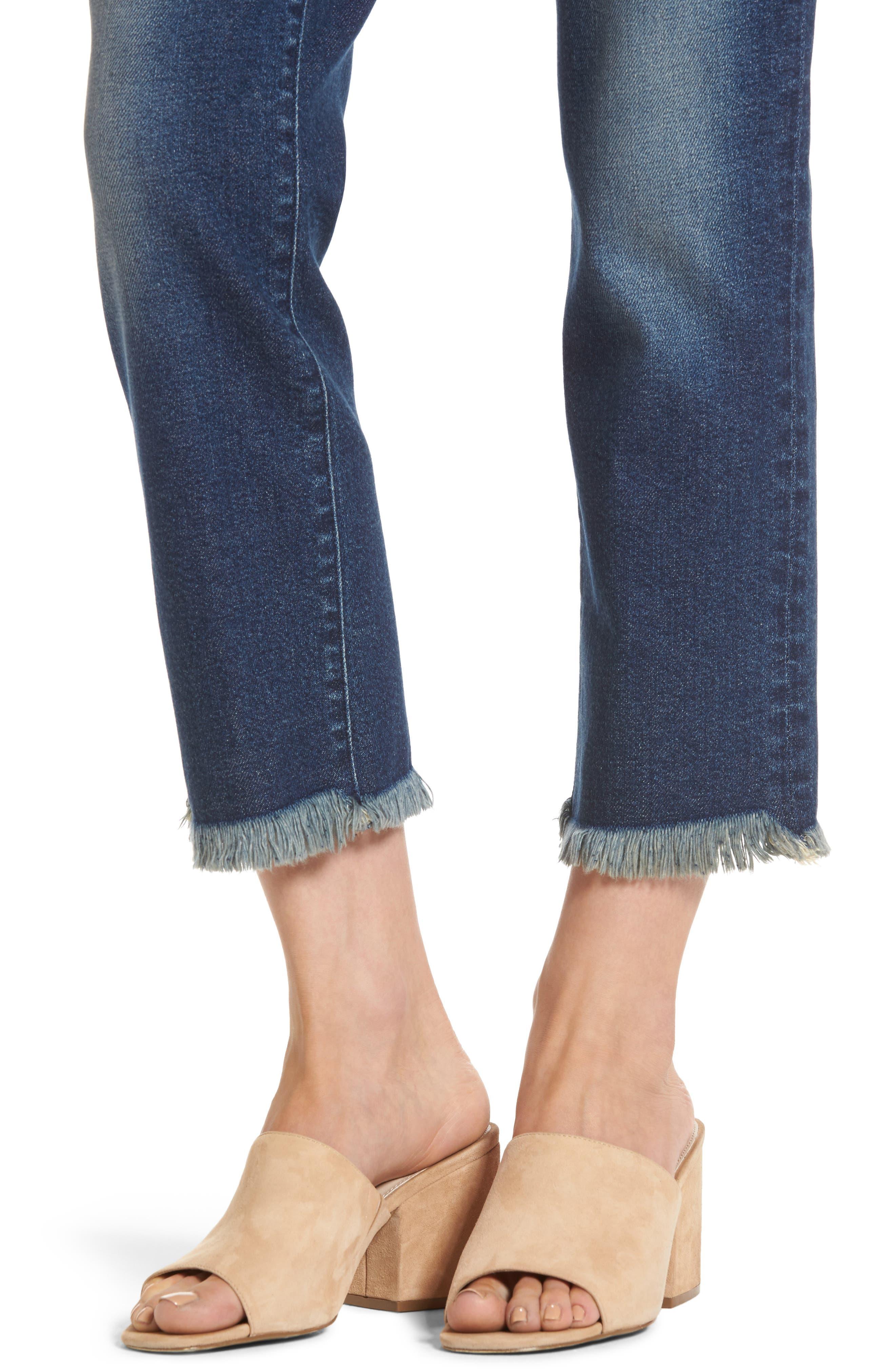 Alternate Image 4  - PARKER SMITH Pin-Up Crop Straight Leg Jeans (Captain)