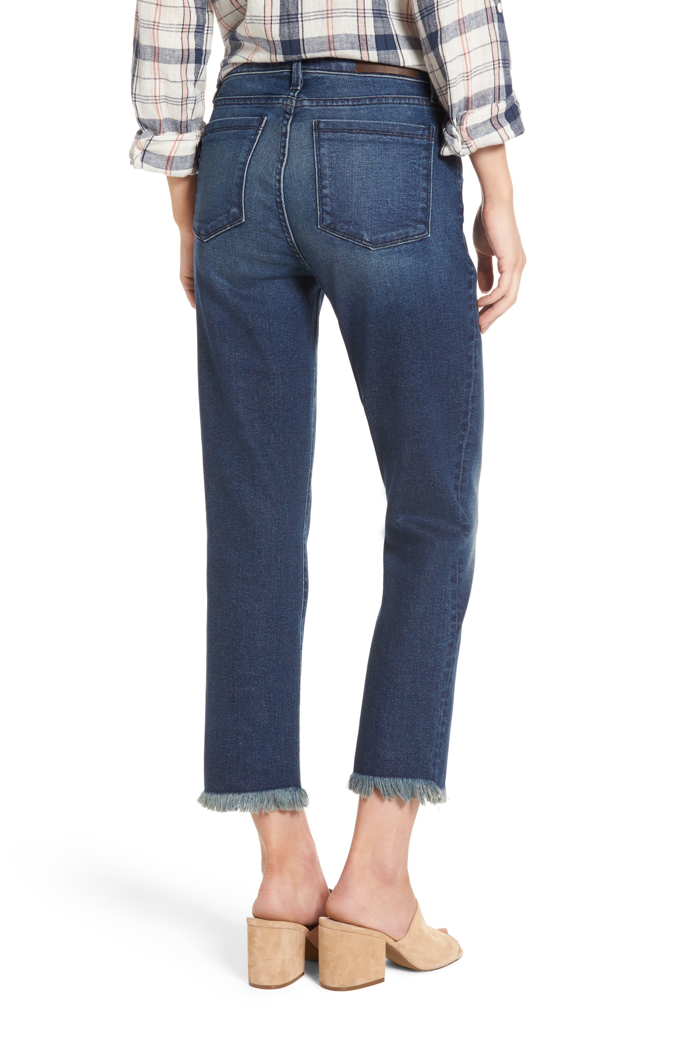 Alternate Image 2  - PARKER SMITH Pin-Up Crop Straight Leg Jeans (Captain)