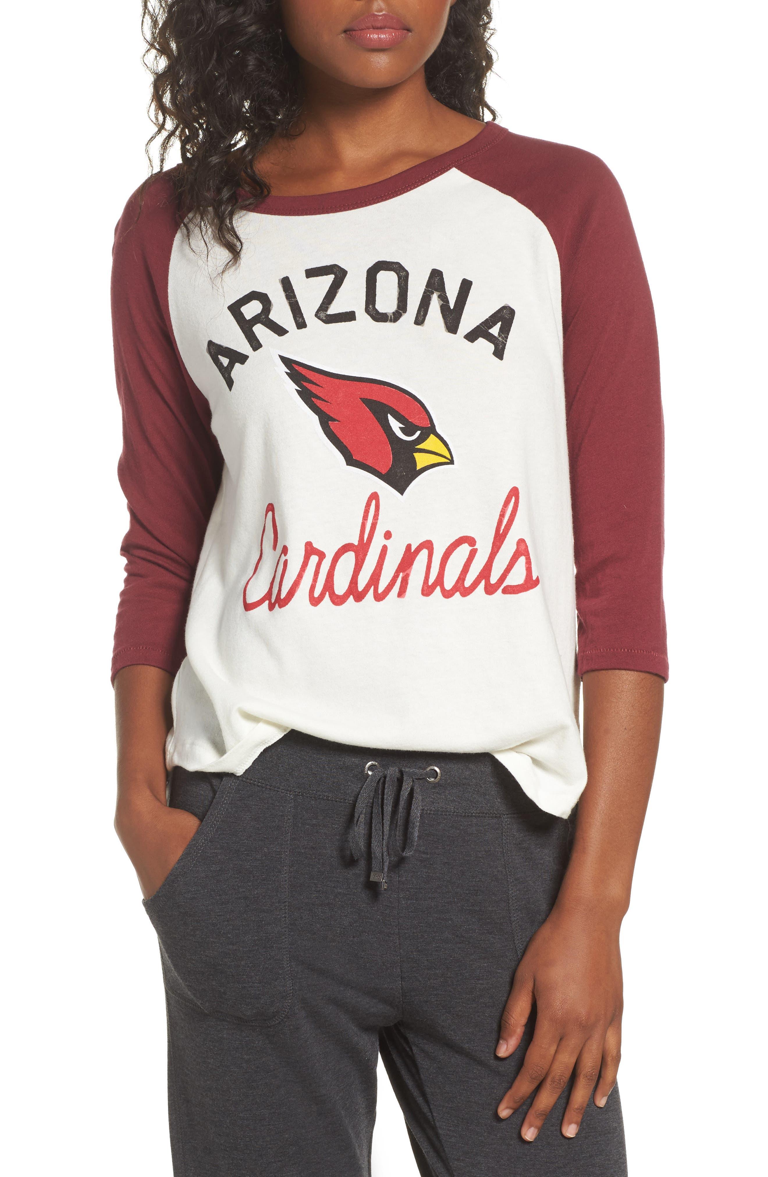 NFL Arizona Cardinals Raglan Tee,                         Main,                         color, Sugar/ Cardinal