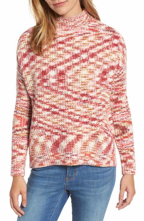 Women's Pink Mock Neck Sweaters | Nordstrom