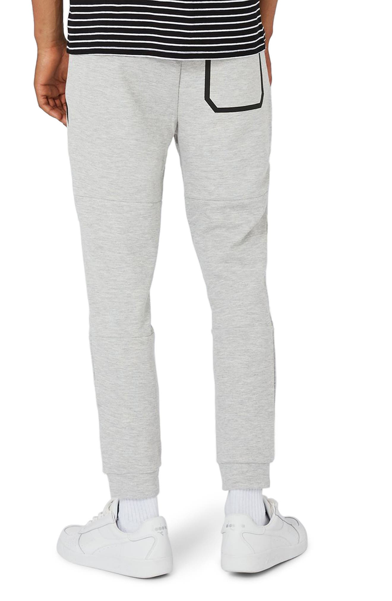 Zip Detail Skinny Jogger Pants,                             Alternate thumbnail 2, color,                             Grey