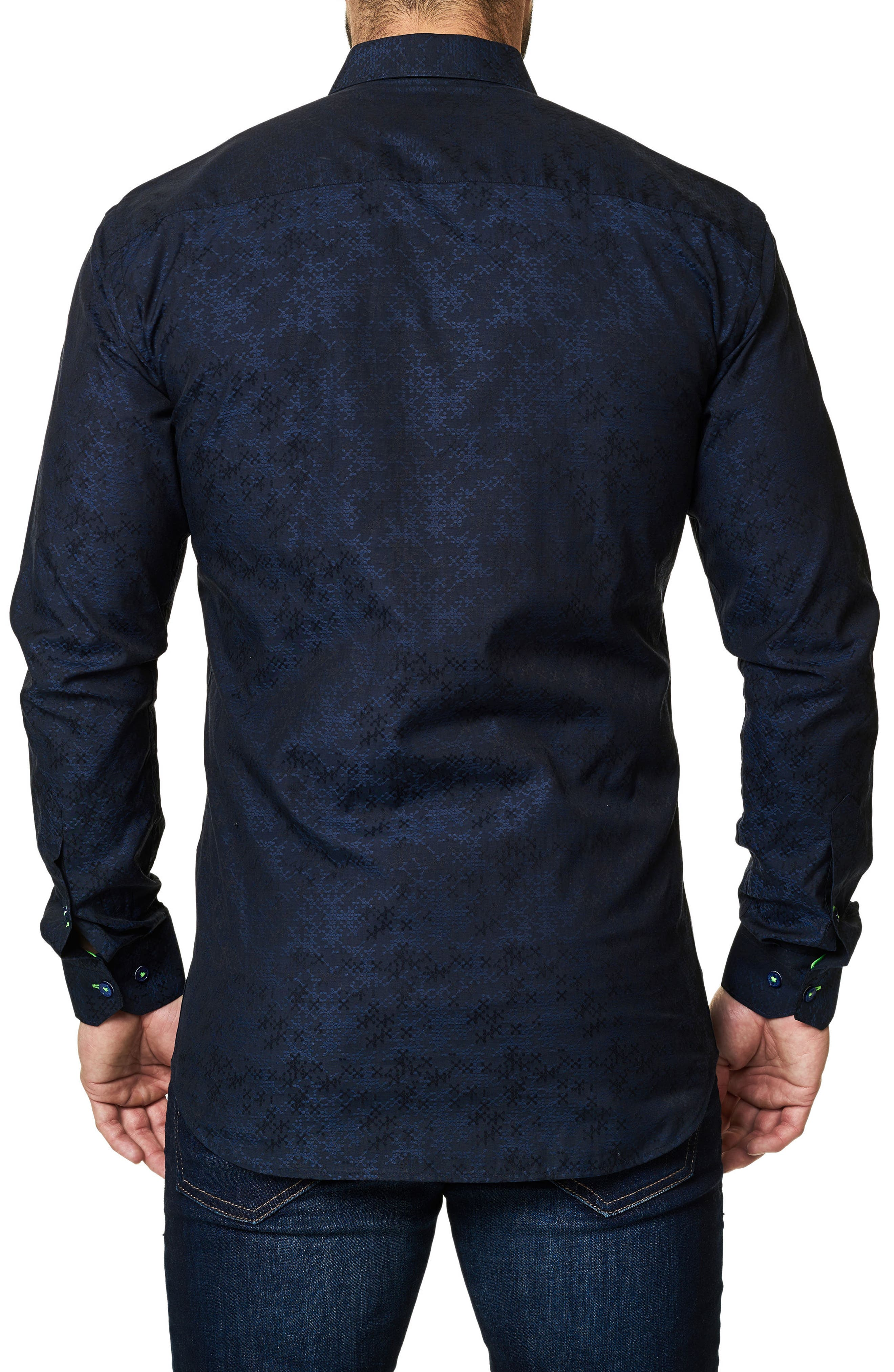 Alternate Image 2  - Maceoo Trim Fit Print Sport Shirt
