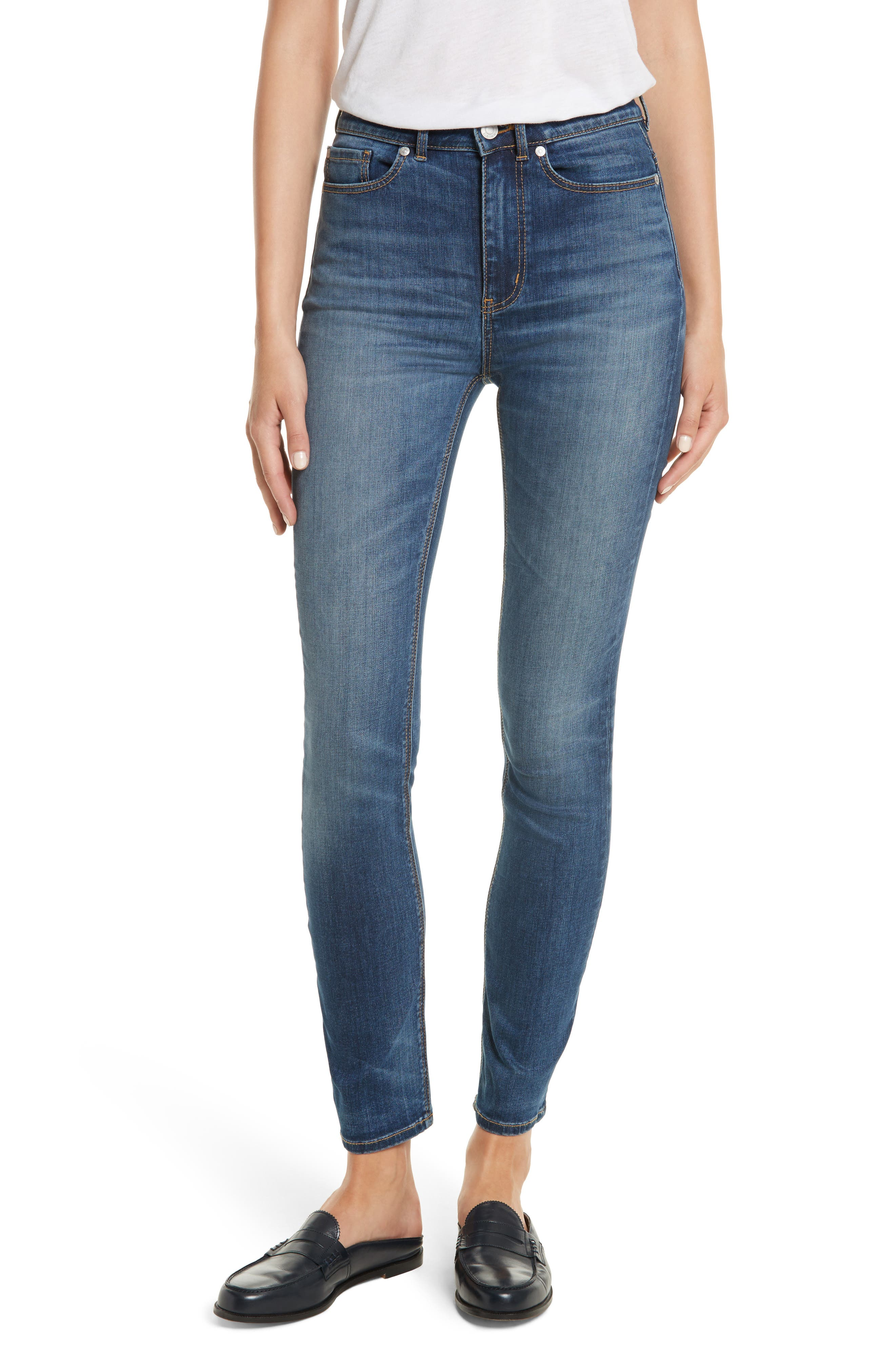 Clemence Skinny Jeans,                         Main,                         color, Verite Wash