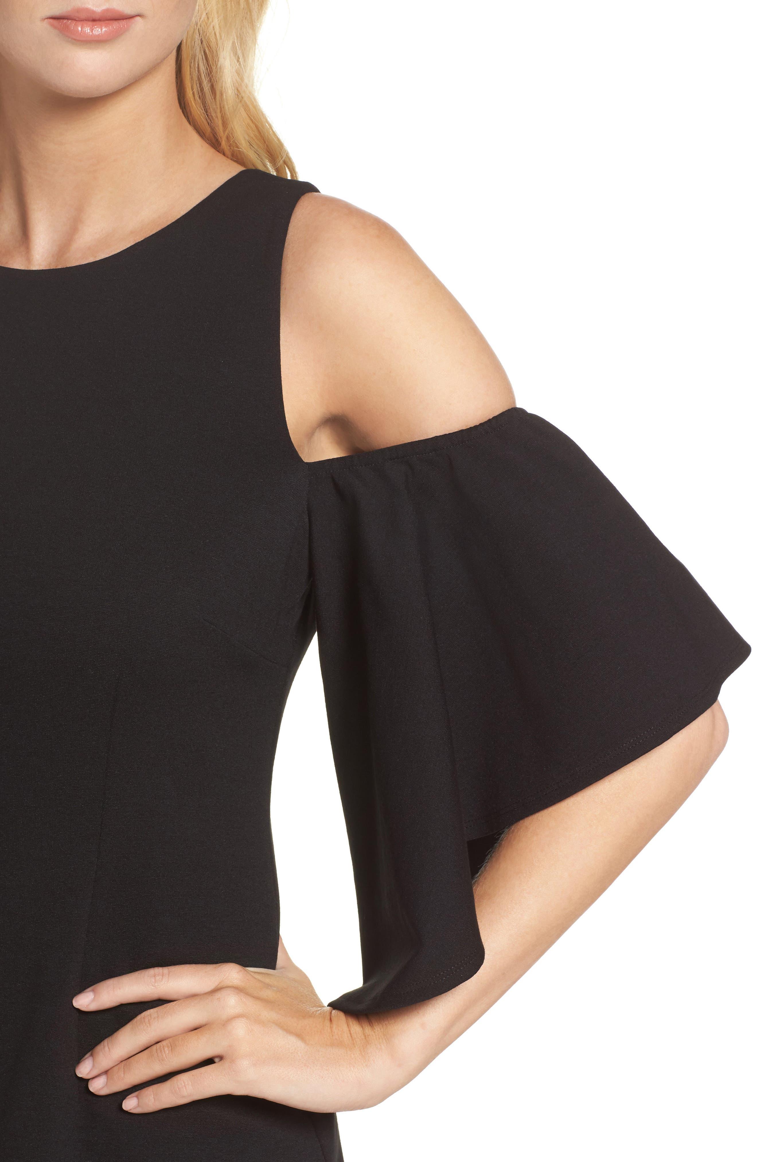 Alternate Image 4  - Eliza J Cold Shoulder Sheath Dress