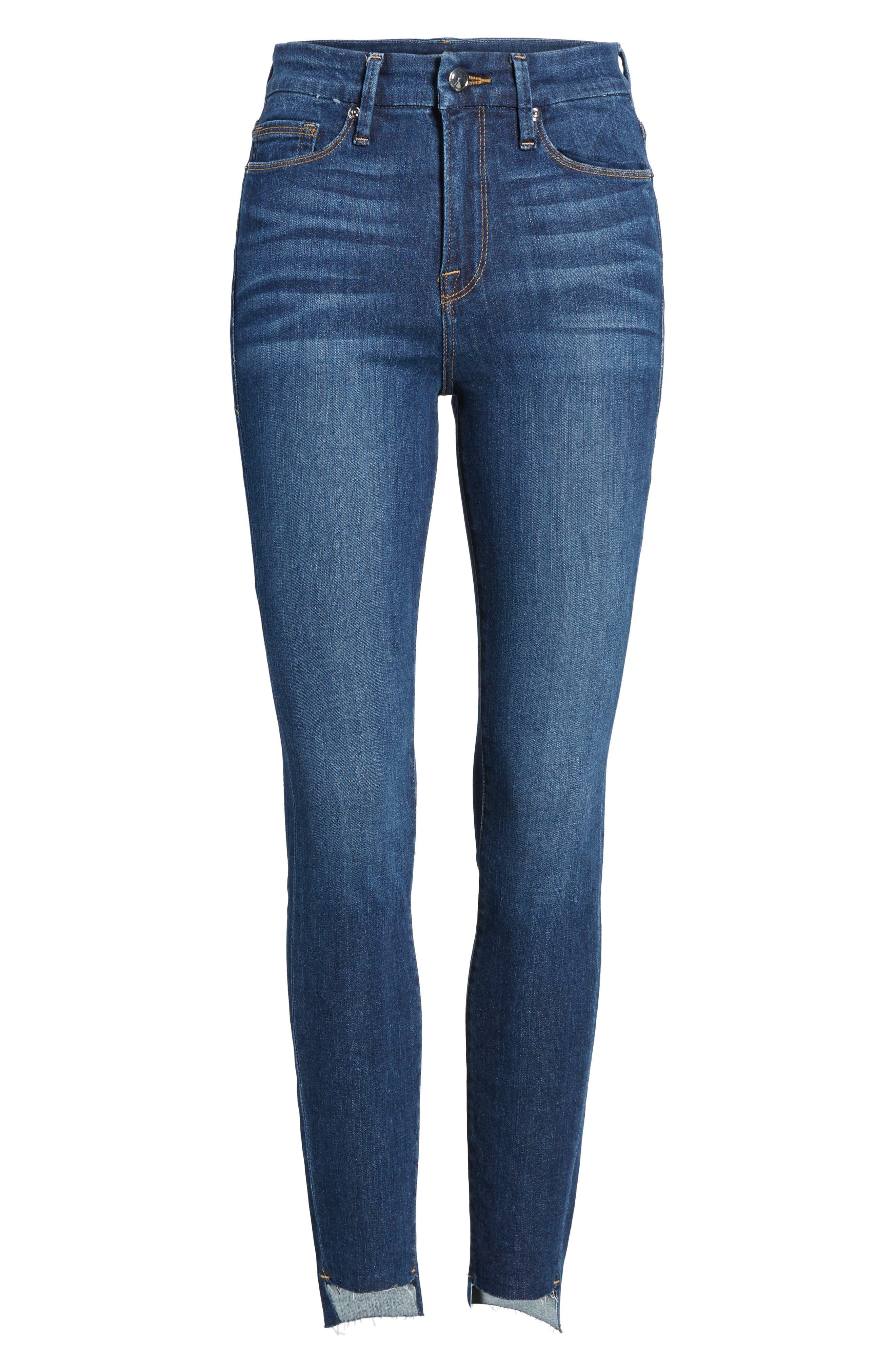 Alternate Image 6  - Good American Good Legs High Waist Skinny Jeans (Blue 046) (Extended Sizes)