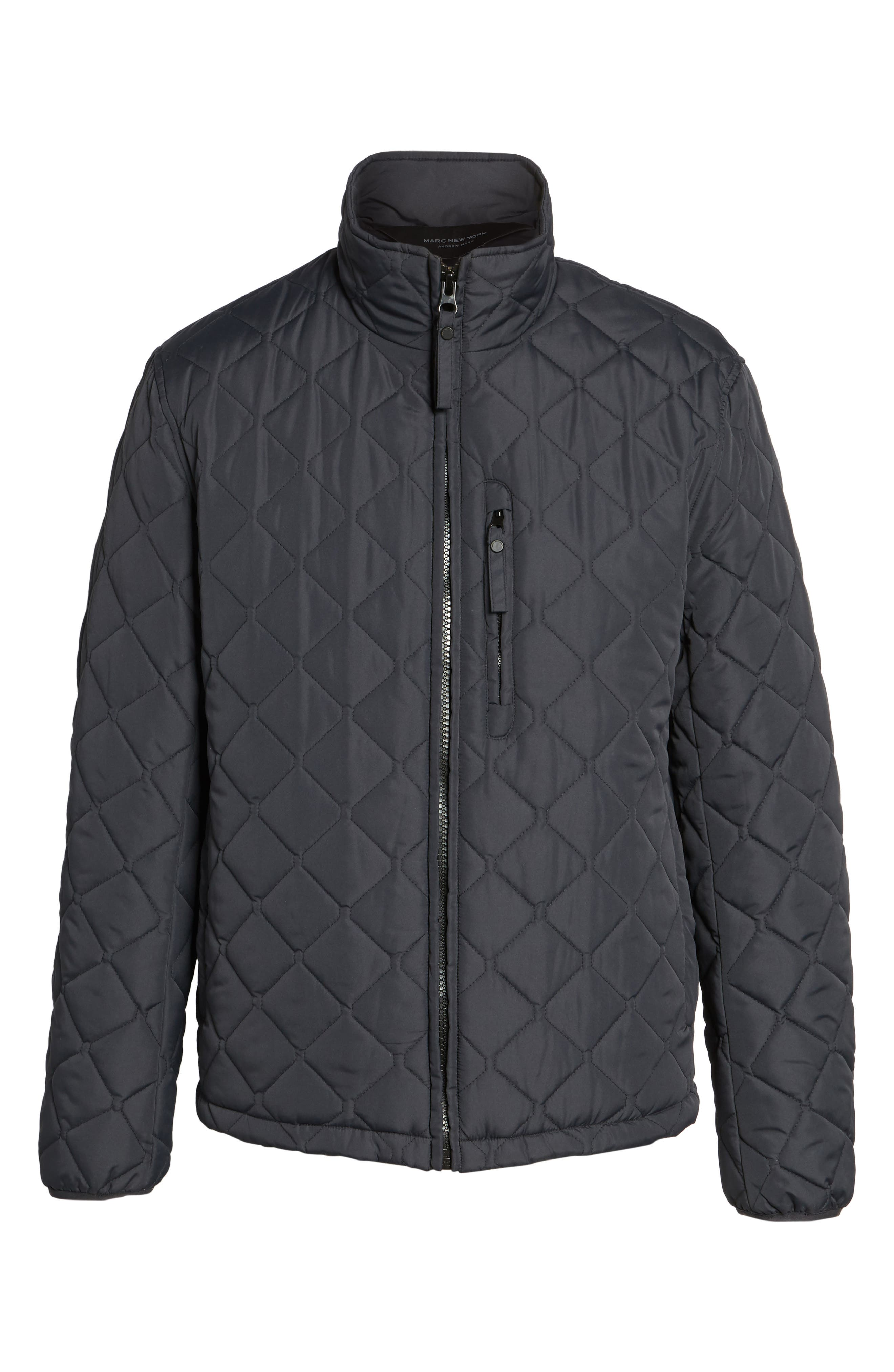 Alternate Image 5  - Marc New York Faux Shearling Lined Quilted Jacket