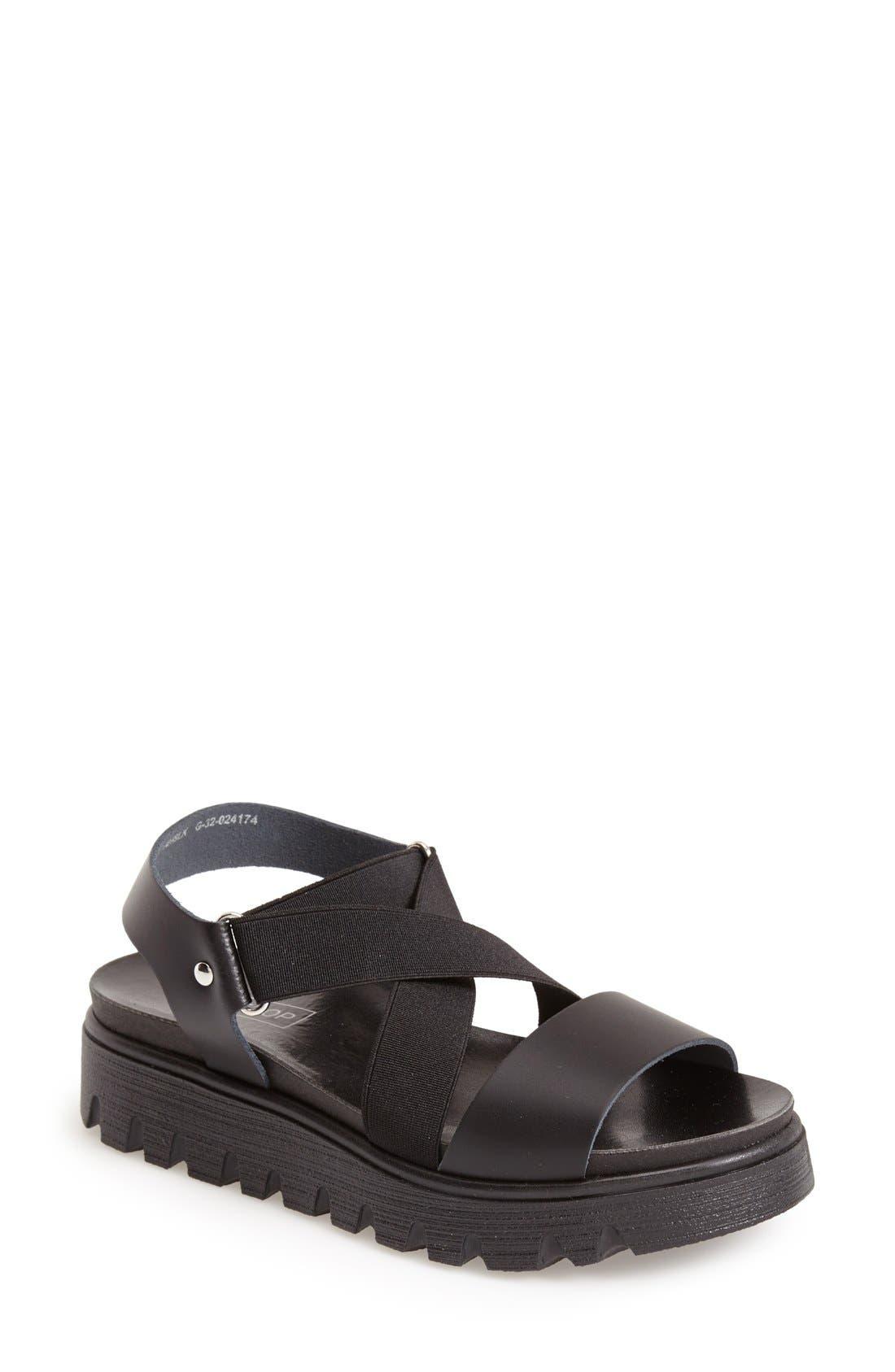 Alternate Image 1 Selected - Topshop 'Folly' Strappy Platform Sandal (Women)