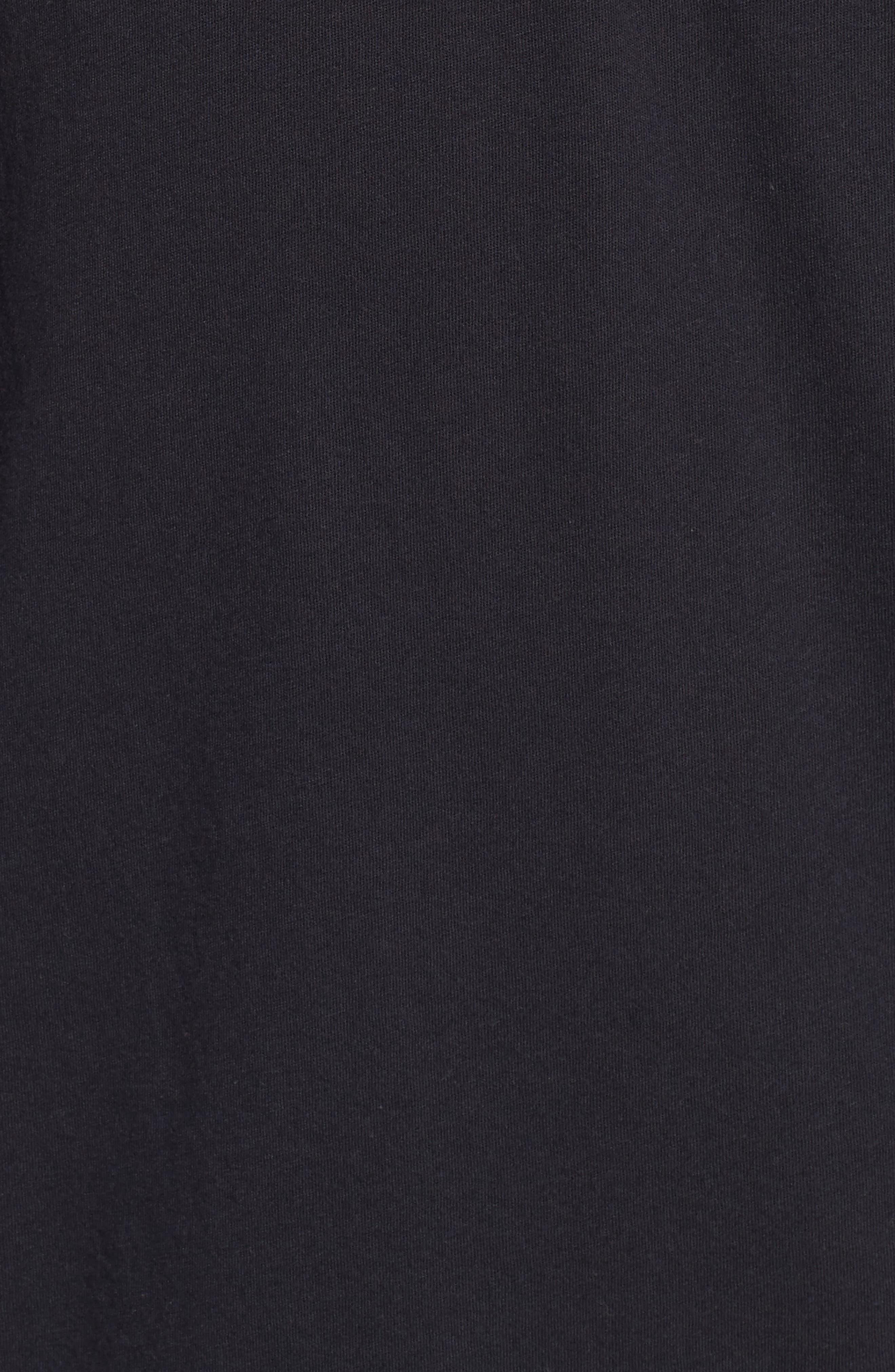 Shirttail T-Shirt,                             Alternate thumbnail 5, color,                             Black Rock