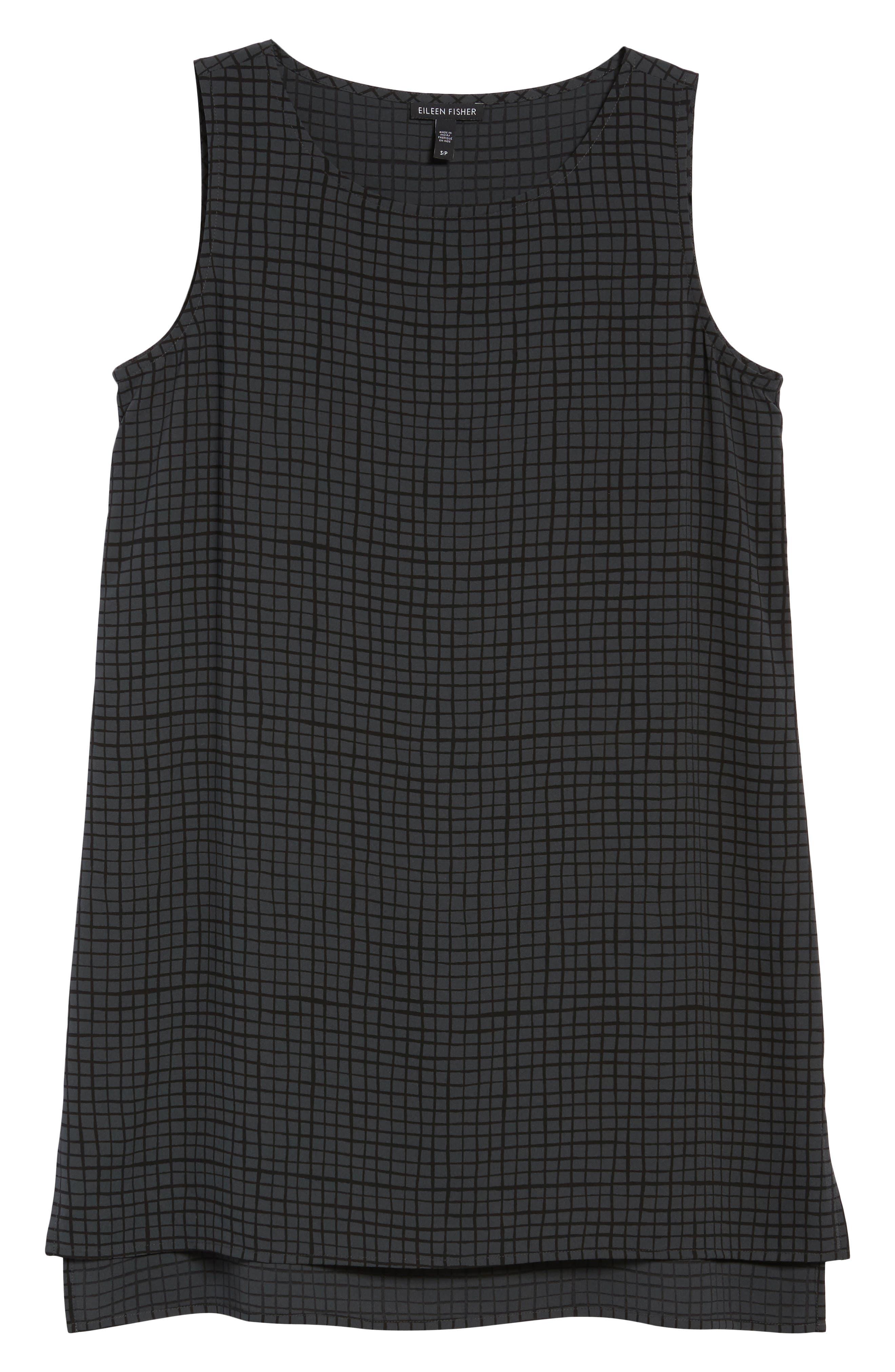 Alternate Image 6  - Eileen Fisher Check Silk Tunic