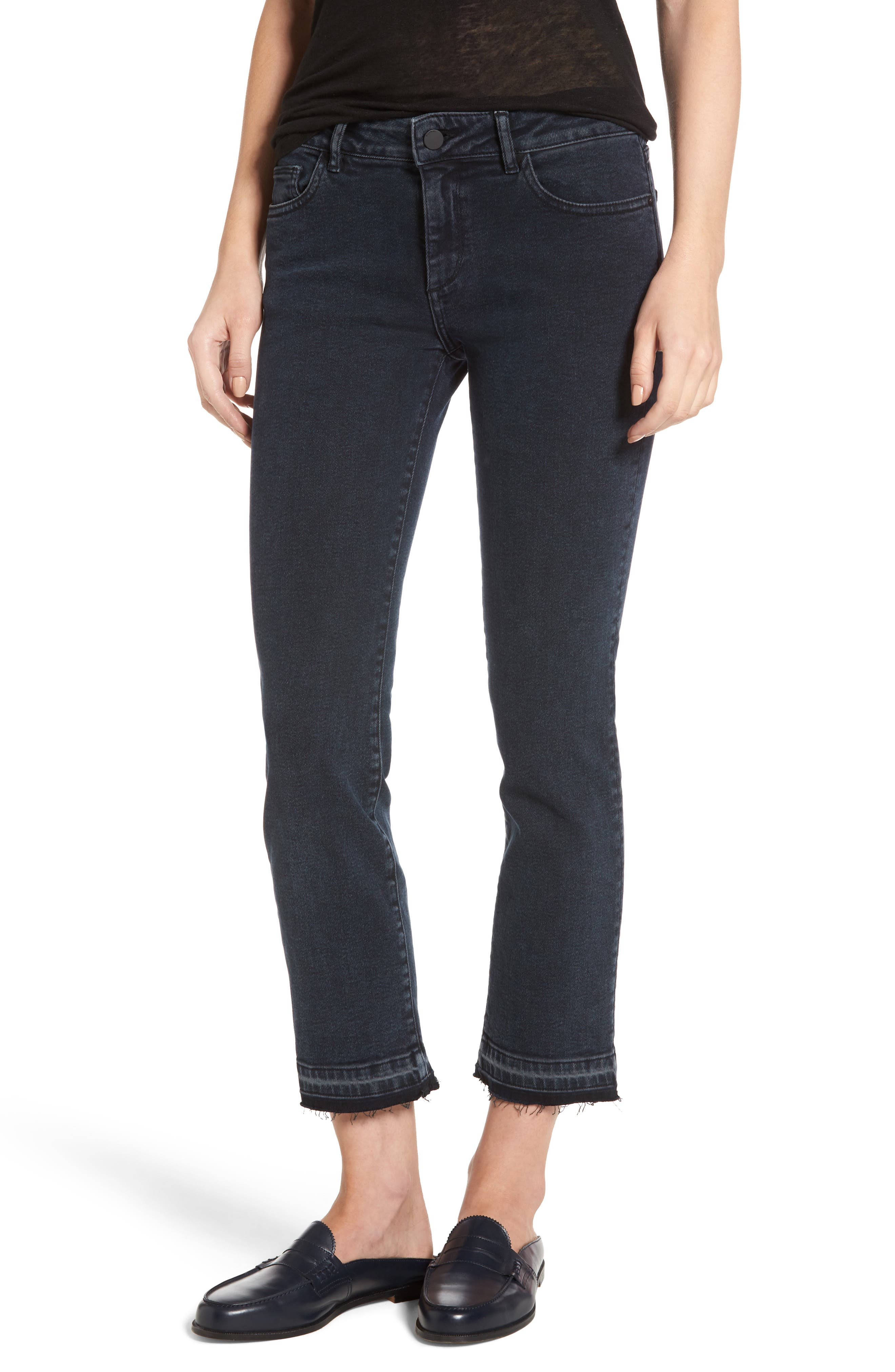 Alternate Image 1 Selected - DL1961 Mara Ankle Snap Straight Leg Jeans (Rye)