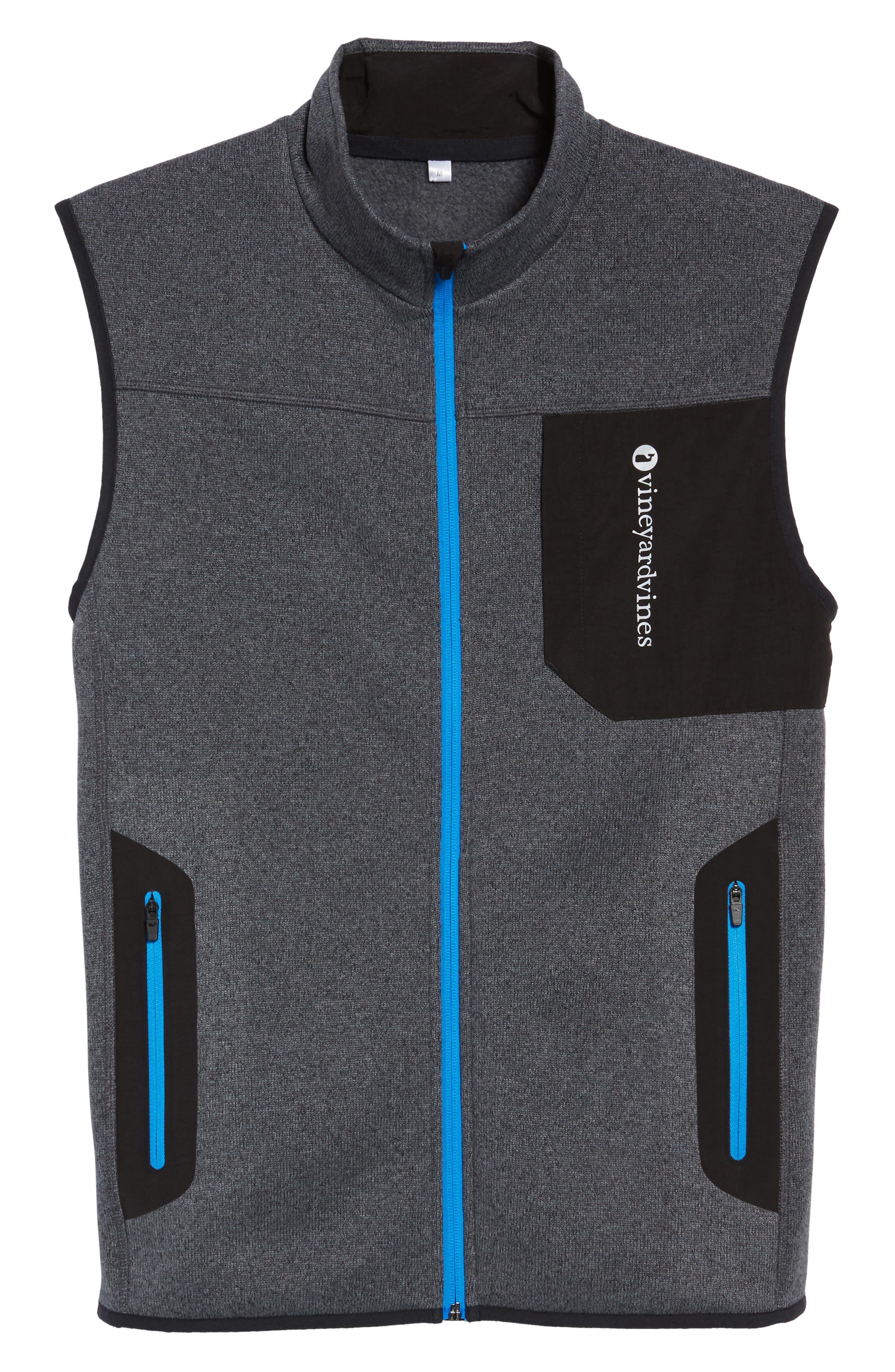 Tech Sweater Fleece Vest,                             Alternate thumbnail 6, color,                             Charcoal
